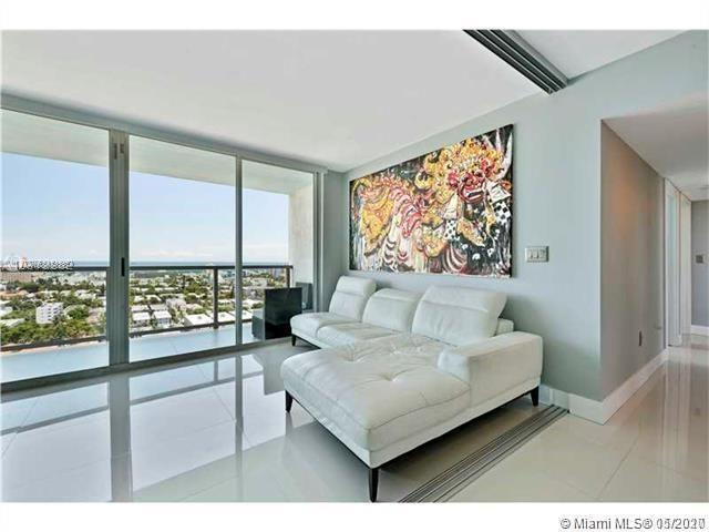 Stunning Ocean and city views from every room. This condo is unique amongst most in the building in that every room has an opening balcony offering fantastic views over Miami and the Beaches. Fully modernized, painted, new kitchen, flooring and bathrooms. Ready for a new owner ! No size restrictions on pets, so bring along your two great Danes if you need to. 