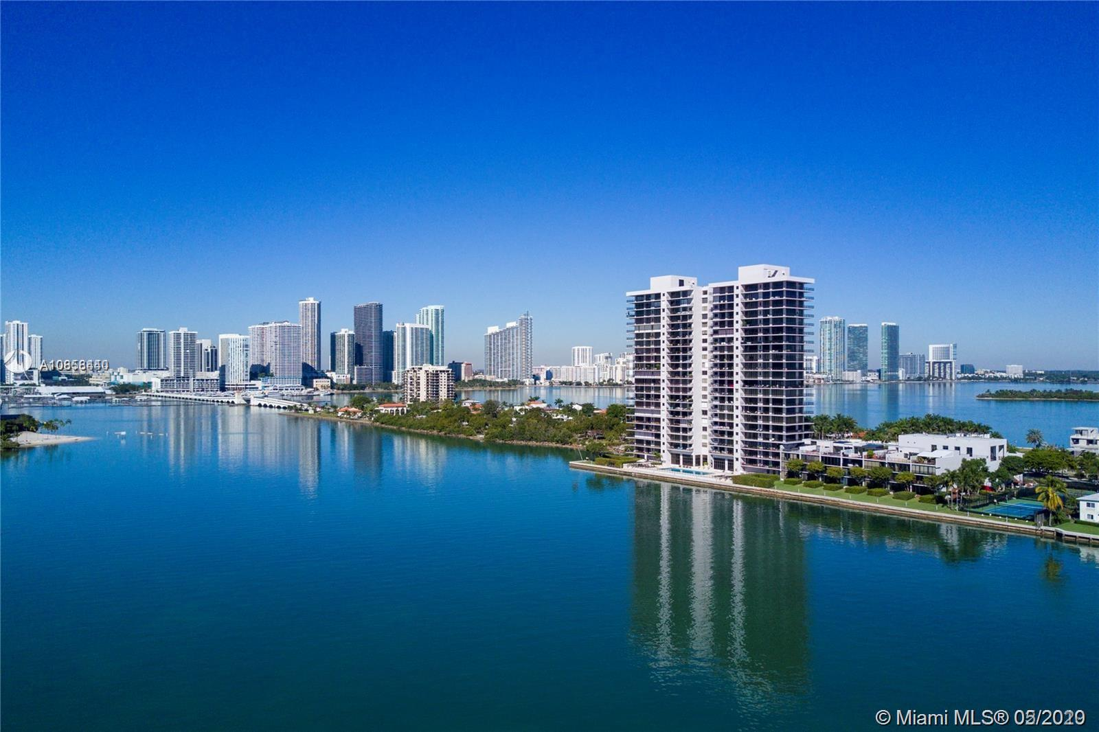 JEWEL IN THE SKY.   This condo has the best exposure views of all Miami beach.  Huge wrap around corner unit views of sunrise and sunset,   Direct downtown views overlooking skyline.  1830 interior sq footage, Over 10 foot ceilings.  Wood floors throughout unit.  A must see ,  Ready for investor to make there dream condo ,  Only unit for sale on this line.