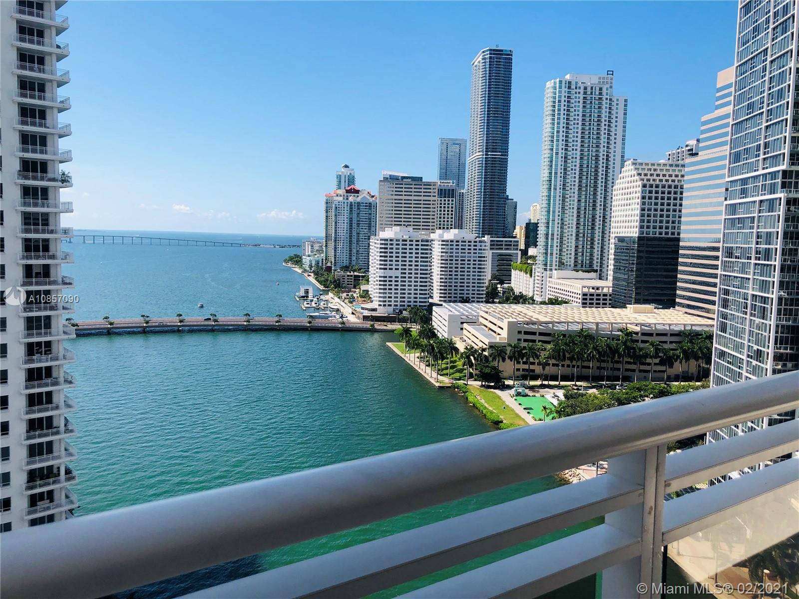 Brickell Key Miami is a very unique  island community centrally located in Brickell. This elegant residence shows an unobstructed water and  Downtown Miami views. This unit futures marble and wood floors, spacious kitchen with wood cabinets and stainless still appliances, two balconies and the finest walls finish. 