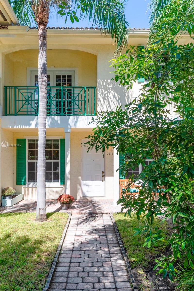 Back to market after a summer facelift! Feels like new construction with porcelain wood-plank floors on 1st, wood on 2nd, new white kitchen with quartz + stainless steel appliances, 2019 AC + hurricane impact windows make the perfect canvas for the years ahead. This Key West-style complex in exclusive Coral Ridge is just 4 units, all owner-occupied. Why waste money on rent when you can own for @ $3100 month with 5% down payment thanks to today's low rates! Bright South exposure with private front yard, fully fenced for your pets. 3 bedrooms, 2.5 bathrooms plus an office nook perfect for working from home. Relax on your master suite balcony overlooking the palm trees. Attached garage, 2nd floor laundry room, easy guest parking. Walk to A-rated Bayview Elementary. Same day showings welcome