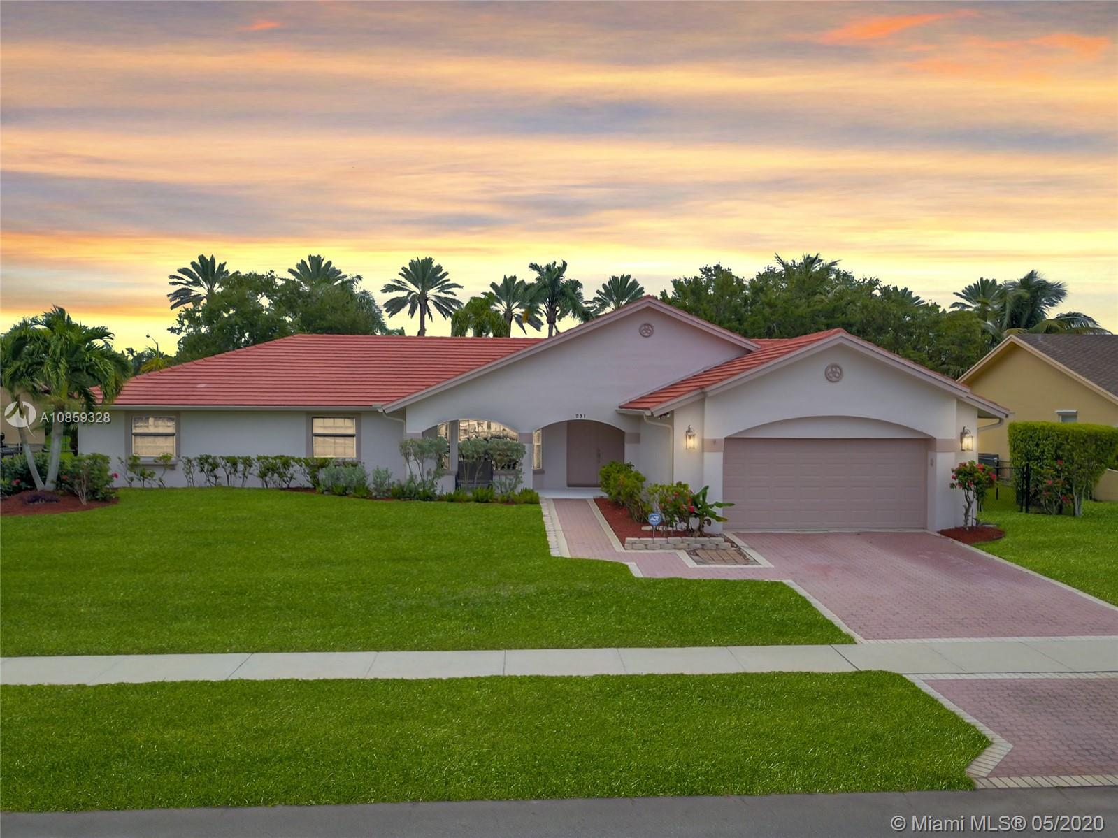 This fabulous 4 bed / 2 bath home in the Pasadena 2 community of Chapel Trail in West Pembroke Pines is ready for your family. An beautiful free-form pool and outdoor patio area with no backdoor neighbors provides the right amount of privacy. Inside the house, wall-to-wall tile compliments the updated kitchen, complete with stainless steel appliances, granite countertops, and a kitchen counter area with extra storage while separate living and family rooms provide plenty of space for the entire family. Walk-in closets in 3 of the bedrooms and a master bathroom with separate tub and shower are a nice feature as well. Complete hurricane protection via panel shutters top off this move-in ready gem.