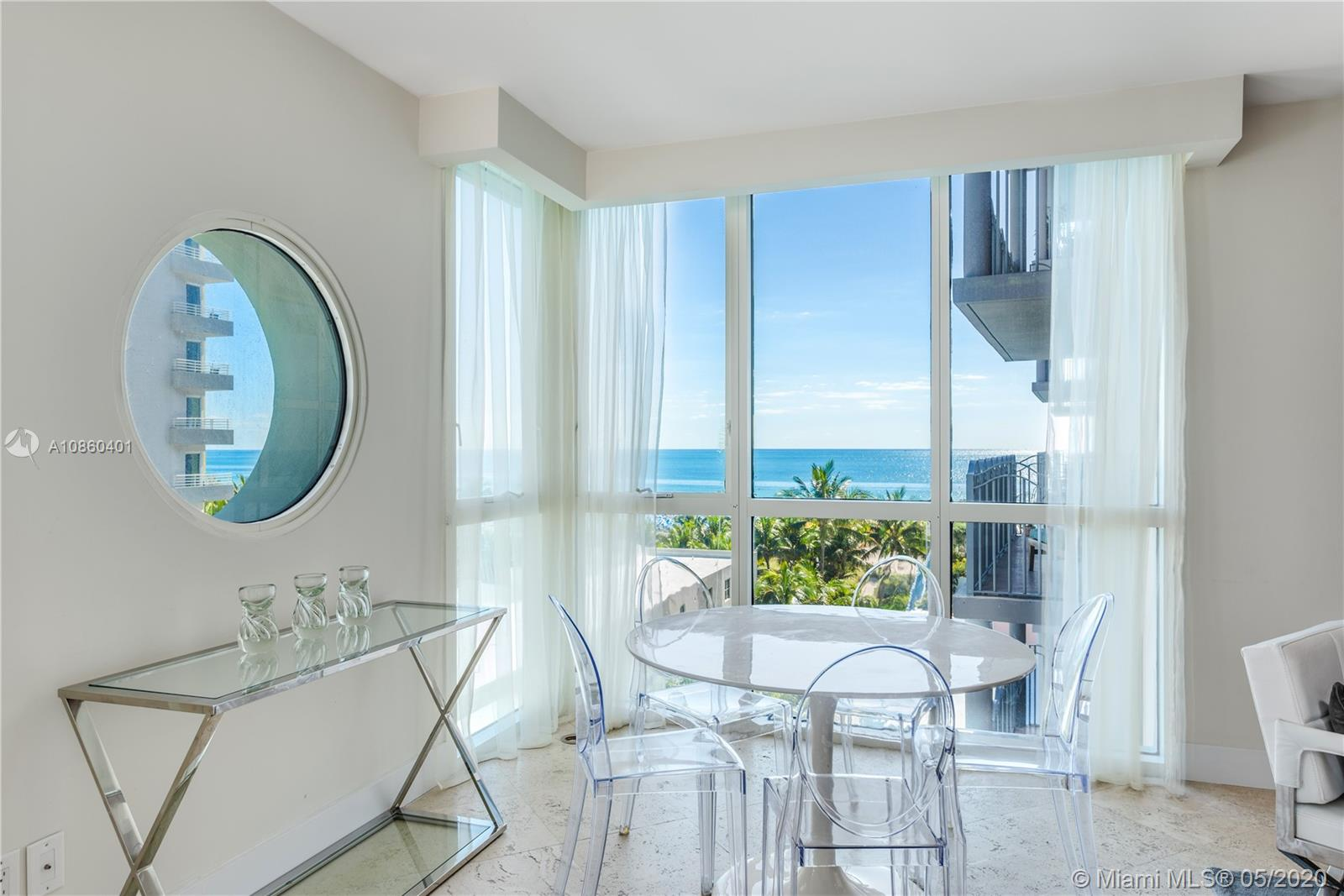 Live in the heart of South Beach in the beautiful Michael Graves building! Two bedrooms and two bathrooms with DIRECT ocean views from floor to ceiling windows in living room. Renovated kitchen with stainless steel appliances and tons of closet space. Ocean front luxury building with full amenities including beach service. Long term lease only at $5,500 a month.