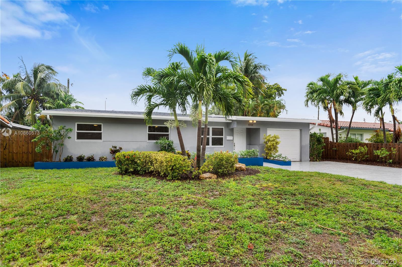 Live in this Dream Home in the Heart of Wilton Manors. This Beautiful Pool Home features 3 Bedrooms and 2 Updated Bathrooms. Large Sparkling Pool was completed in 2016. Roof was replaced in 2017 along with Solar Panels to maximize utility bill savings. New AC in 2019. Great floor plan with Spacious Living Room, Expansive Updated Kitchen and Dining Room leading out to the Beautiful Generous Garden. Large laundry Room with tons of storage plus an attached Garage. Enjoy Wilton Manors Drive with all the Dining and Entertainment at your doorstep.