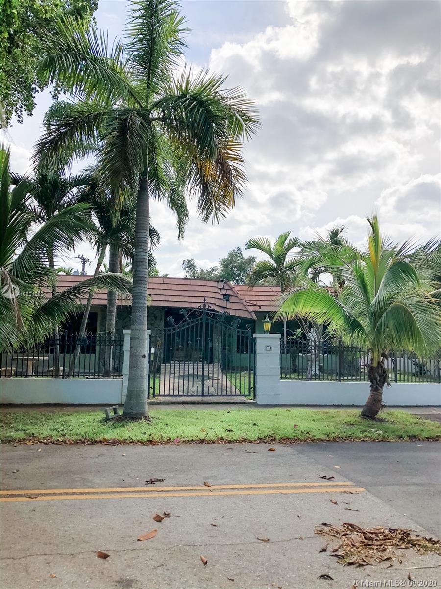 Location Location...Corner lot home in the cuveted neighborhood of Bay Heights.  Enjoy 24 hour security patrol and one of the best locations in the 305. The large home is ready for needed renovations/repairs or for a new construction. Old plumbing has been replaced.