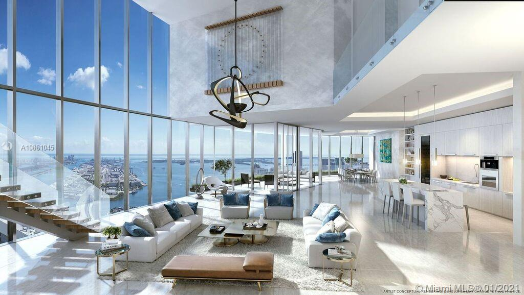 PARAMOUNT Miami Worldcenter, the building with the most amenities in the world.  This 5BD + Den / 6BA, 6,513 sq. ft unit is a Duplex PH unit to customize and design your own kitchen. This unit has amazing views.  Access to 46 different amenities such as 5 pools, spa, outdoor lounge, summer kitchen, game room, state of the art fitness center, boxing studio, basketball court, racquetball, yoga, observatory, jam room and recording studio and much more. Located within Miami Worldcenter, the second largest master planned community in the U.S. Just steps from the Virgin Train Station, Port of MIA, AA Arena and minutes to MIA Airport, Wynwood, Miami Bch.