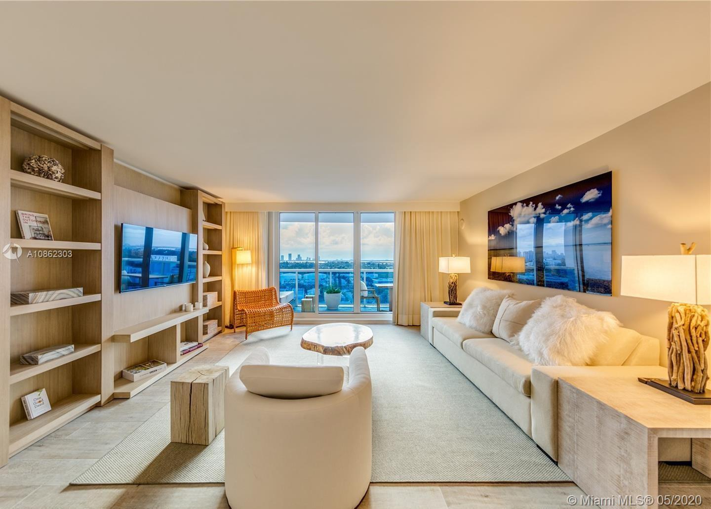 This gorgeous 1,000 Sq. Ft. 1/1 is the perfect combination of all things natural and organic in a luxurious setting. From a furnished private balcony with a double chaise lounge and a table set for two with breathtaking views of the Intracoastal. Enjoy your relaxing living room with a plush white organic sofa that converts into a bed, and a 4 seater dining table that leads to a private master bedroom with a king-sized Keetsa mattress. When booking this condo, you receive hotel privileges. Hotel amenities include 4 pools, gym, spa and 4 onsite restaurants. Reservations under 30 nights do not receive in suite dining.This condo comes fully equipped with a dishwasher, refrigerator, microwave, oven, stove, blender, coffee machine, Nespresso machine, disposal, washer/dryer and more.