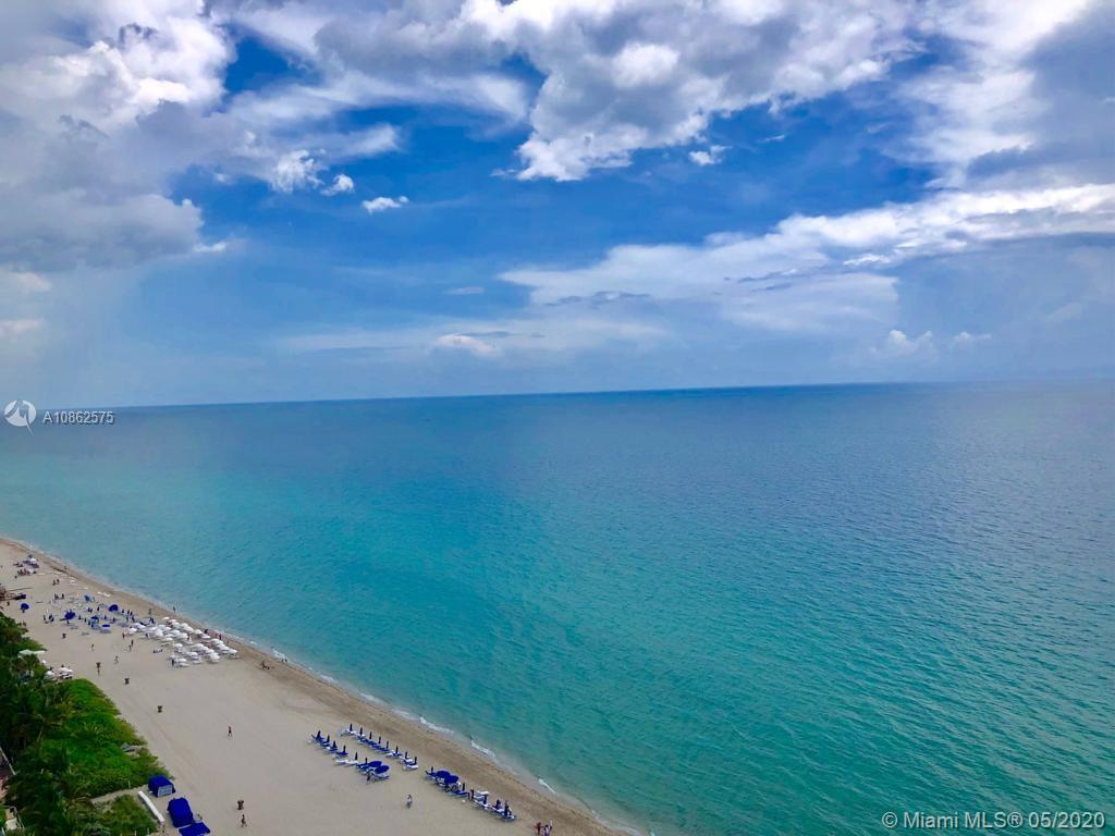 Live at most prestigious Jade Ocean, right on the beach of trendiest Sunny Isles. This unit's perfect floorpan features exceptional master bedroom with walk in closet and most spacious and beautiful master bathroom; calacata marble floors throughout, and state of the art kitchen equipment. Convenient den converted into second bedroom and private laundry room. Huge terrace with breathtaking views of the ocean invite to enjoy privileged beach services, sunrise and sunset impressive pools, 2 hot tubs, excellent spa plus one of the best equipped gym rooms in the real estate market . Concierge service, day restaurant and more