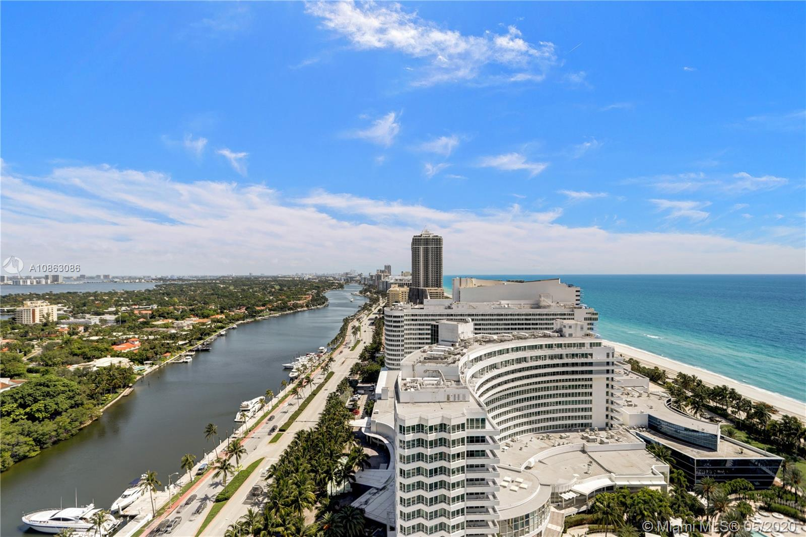 Beautiful Jr Suite w/ocean & bay views at The Fontainebleau II. Enjoy full service, vacation-style living in a furnished turnkey unit with king bed, sleeper sofa & more. Enroll in hotel rental program & receive income while away! The Fontainebleau Resort offers luxury amenities on 22 oceanfront acres including award-winning restaurants, LIV night club, Lapis spa & state-of-the-art fitness center. Maintenance includes: AC, local calls, electricity, valet + daily free breakfast in the owners lounge.