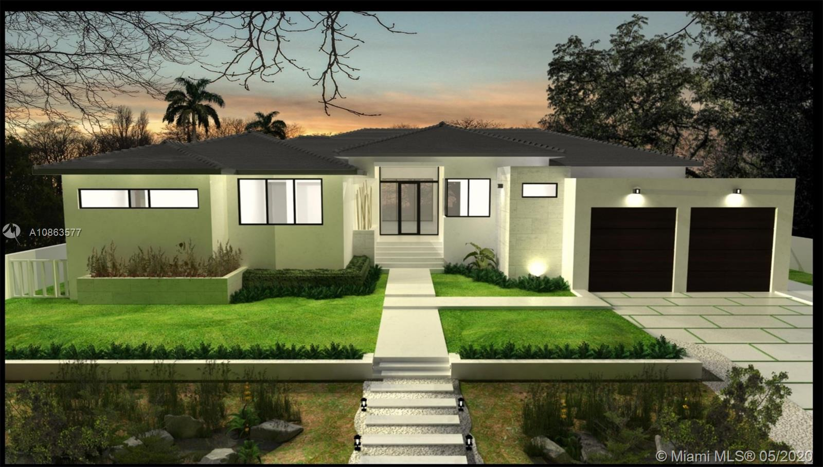 BRAND NEW 2020 CONSTRUCTION. Luxury single family home in beautiful gated Belle Meade. Total of 4,237sf with 4br/4.5ba, huge covered lanai and 2 car garage. Spacious light-filled living/kitchen/dining/family rooms open to back yard with salt-chlorinated pool 30x14 pool. 10.5' finished ceilings, huge master suite with massive closet and spa-like bathroom. All bedrooms have en-suite bathrooms. All closets include built-ins. True chefs kitchen with plenty of storage in custom MIACUCINA cabinetry, huge island, full subzero/wolf appliance package. Top quality impact windows/doors. Permanent generator. A+ location, minutes from Miami Beach, Design District, Wynwood, Downtown & more. Delivery end of 2020.