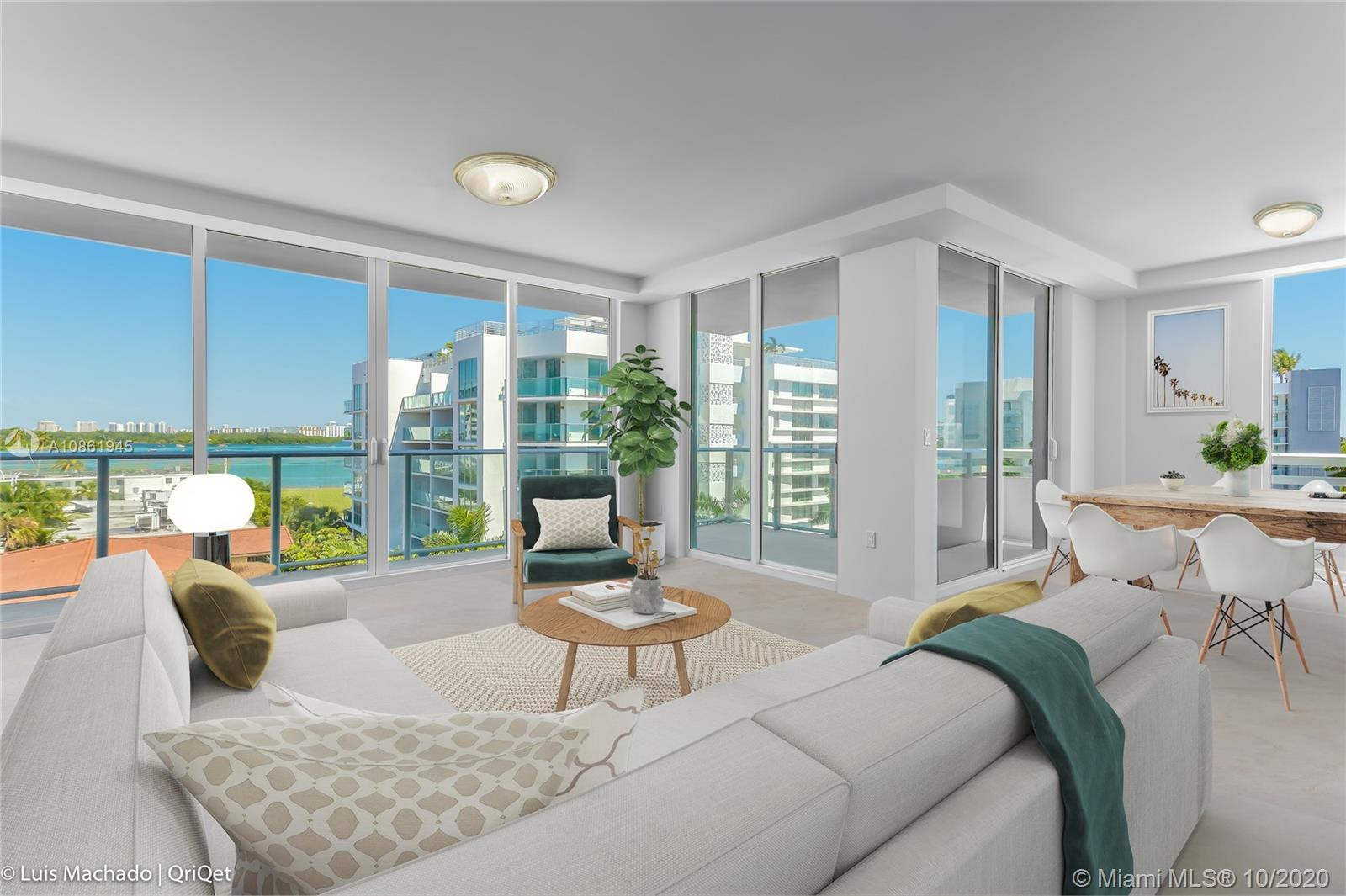 ** ESPECTACULAR / WATER VIEW APARTMENT AT EXCLUSIVE BRAND NEW CONSTRUCTION LE JARDIN BOUTIQUE CONDO IN BAY HARBOR ISLAND ** STUNNING HIGH-END 2 BEDS+ DEN, 2.5 BATHS. LOTS OF NATURAL LIGHTS. MODERN OPEN KITCHEN WITH TOP OF THE LINE FINISHES AND STAINLESS STEEL APPLIANCES. UNIT HAS CAPTIVATING LARGE TERRACE THAT FACES WATER AND CITY VIEWS.  ** ENJOY ALL UNIQUE AMENITIES THIS BOUTIQUE BUILDING HAS TO OFFER, INCLUDING PRIME LOCATION NEAR: BAL HARBOUR SHOPS, SUNNY ISLES, BAL HARBOUR AND MORE **