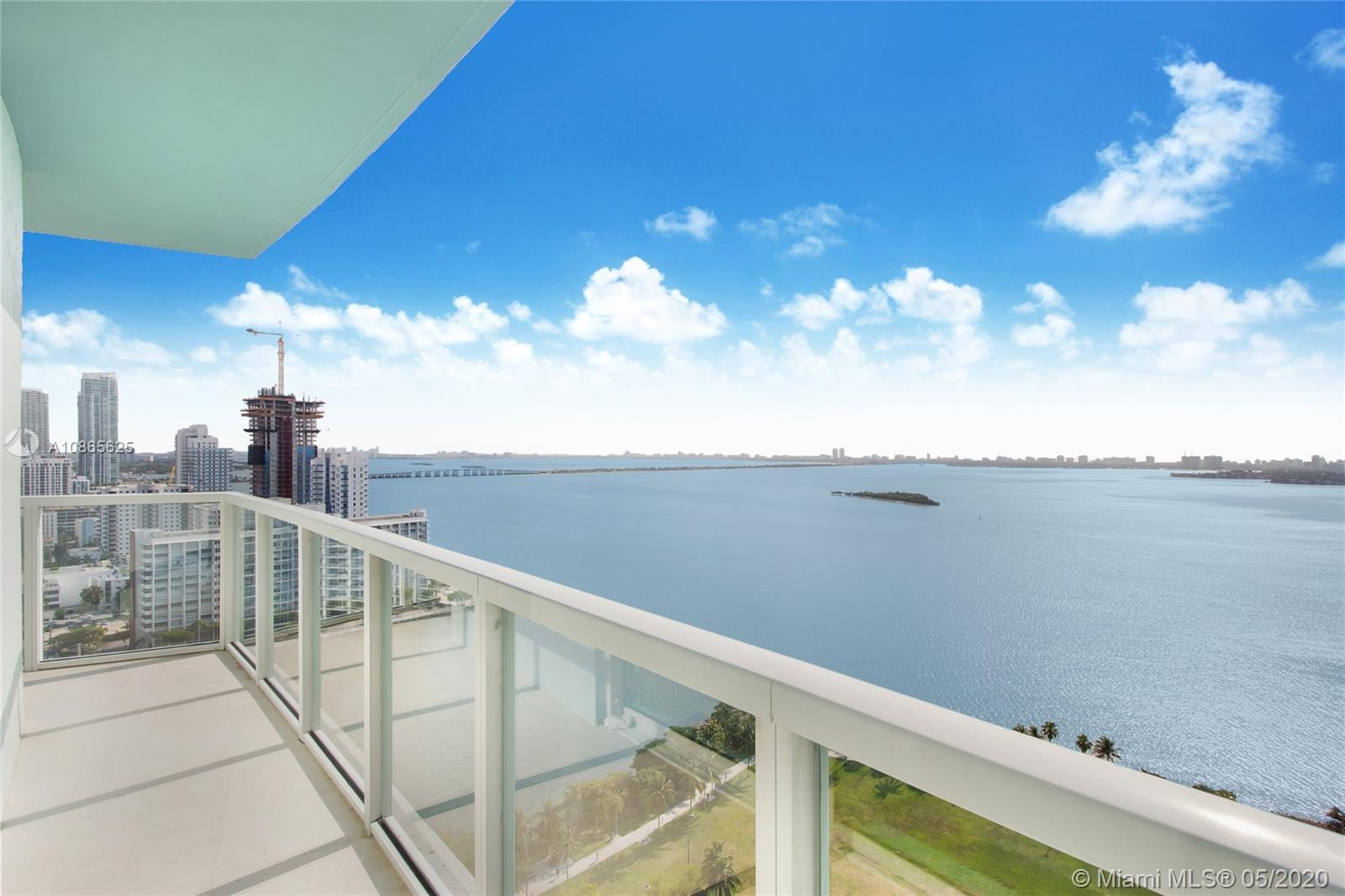 Spacious 2 bedroom + Den with 2 full bathrooms and an extra powder room in the desirable Quantum On The Bay. Quarts kitchen counters, European cabinets, stainless steel appliances. Wraparound balcony with stunning views of the Biscayne Bay, Margaret Pace Park and the Beaches. Two pools, fitness center, lounge, movie theater, business center in the building. Unit can be rented furnished at extra cost. No pets as per building policy.