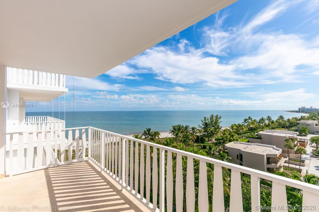 """Million Dollar view in Exclusive Boutique Key Biscayne Building. This 9th floor apartment offers """"Breathtaking Unobstructed """" direct oceanfront views from its open balcony, bright spacious living room, kitchen, dining room and large one bedroom. Other features include lots of closets, Italian porcelain tile, washer/dryer, hurricane impact floor to ceiling windows and storage. All current building assessments are paid. Building has recently renovated pool and direct beach access. Maintenance includes electricity, A/C, high-speed internet, basic cable and valet. Walking distance to shopping area , restaurants , coffee shops , private schools and parks.Showing instructions see Brokers Remarks. Please text me with date and time 24 hours prior to showing schedule."""