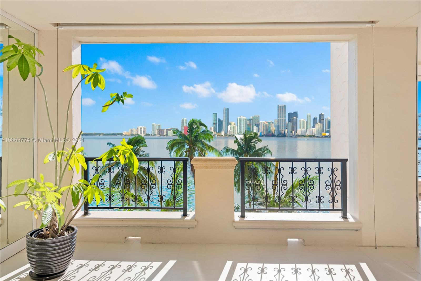 Live the Fisher Island lifestyle in this mesmerizing Bayview unit. Completely renovated with state of the art finishes. It showcases: 3,550 sq ft interior, 3 bedrooms + den, 3.5 baths, professionally designed & decorated offered fully furnished, open kitchen with top of the line appliances, wine cellar, formal dining room, master bedroom & guests bedrooms with a private terraces, media room, impact glass doors, smart house system, expansive terraces overlooking the Miami downtown skyline and Biscayne Bay perfect to admire beautiful sunsets! Enjoy living in this one of a kind oasis! Easy to show.