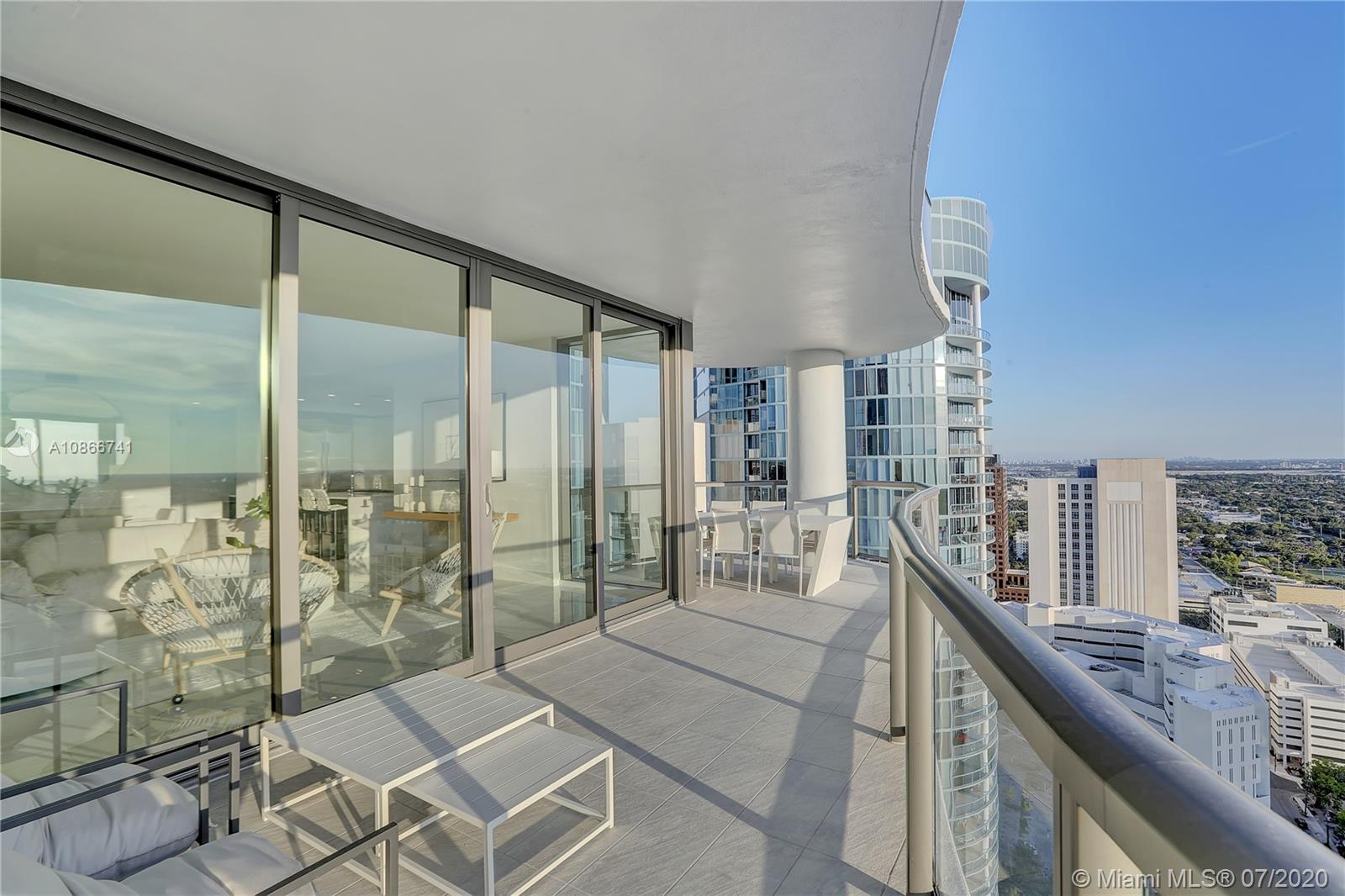 The newest and most luxurious building in downtown is move in ready! This spectacular penthouse features 3 exposures and offers our most direct river view. The great room and master bedroom open onto the expansive terrace with 3 distinct seating areas. With porcelain flooring throughout, a gourmet kitchen with European cabinets, quartz counter tops, top of the line Jenn Air appliances, and Grohe fixtures throughout, this residence is an urban oasis of luxury. The master suite features 2 walk-in closets and a luxuriously appointed bathroom. Additional features include high ceilings, a laundry room with side by side whirlpool washer and dryer and an abundance of additional storage.