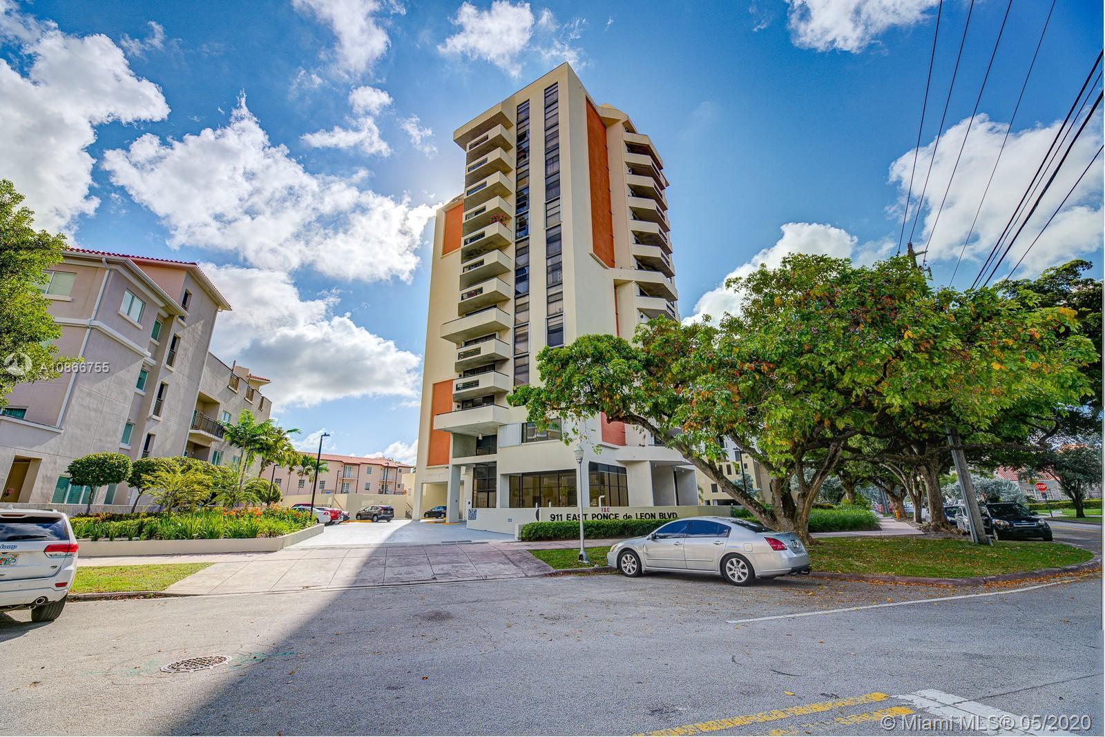 911 E Ponce De Leon Blvd #1104 For Sale A10866755, FL