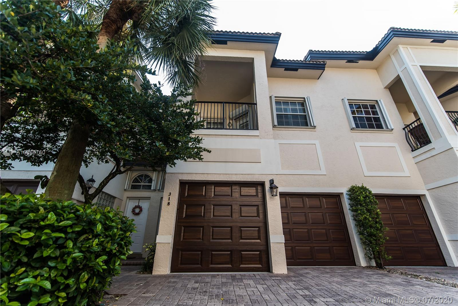 Designer 3/2.5 Gated Townhouse with Two Car Garage. Great Location. Walk to Las Olas. The first floor has real wood floors, a half bath,gas fireplace and wood stairs to the second floor. Kitchen includes a gas stove,new Bosch appliances and custom wood cabinets. Upgraded designer details and Home Speaker System throughout. The second floor is carpeted with two bedrooms and a full bath on one end with the master suite separated on the other end.The large master suite has a private balcony,walk in closet and master bath that includes marble flooring,spa tub,separate shower and dual sinks. Outside the Chicago brick patio has piped in gas to support a built in grill and fire pit. Other outdoor touches include a fountain, bamboo privacy fence and fresh landscaping. New AC Unit 2019.