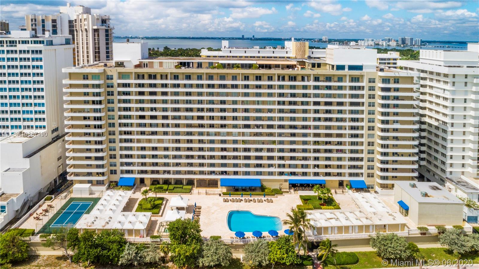Elegantly remodeled unit in the heart of Millionaire's Row. Enjoy beautiful Sunsets, Intercostal, and City Views. This 1,048 SF unit features 2 bedrooms & 2 full bathrooms, it's fully renovated from floor to ceiling. Oceanside Plaza condo designed by Morris Lapidus offers resort's style amenities include beach service, pool, fitness center, squash and basketball courts, restaurant, billiards room, and direct access to the recently completed beach walk, connecting to South Beach. On-site restaurant, Lola Restaurant is a delicious Argentine cuisine restaurant located on the mezzanine floor. Maintenance Includes Basic Cable, Water, Sewer, Hot Water, Building Insurance, AC Cooling Tower. Enjoy South Florida living at its best.