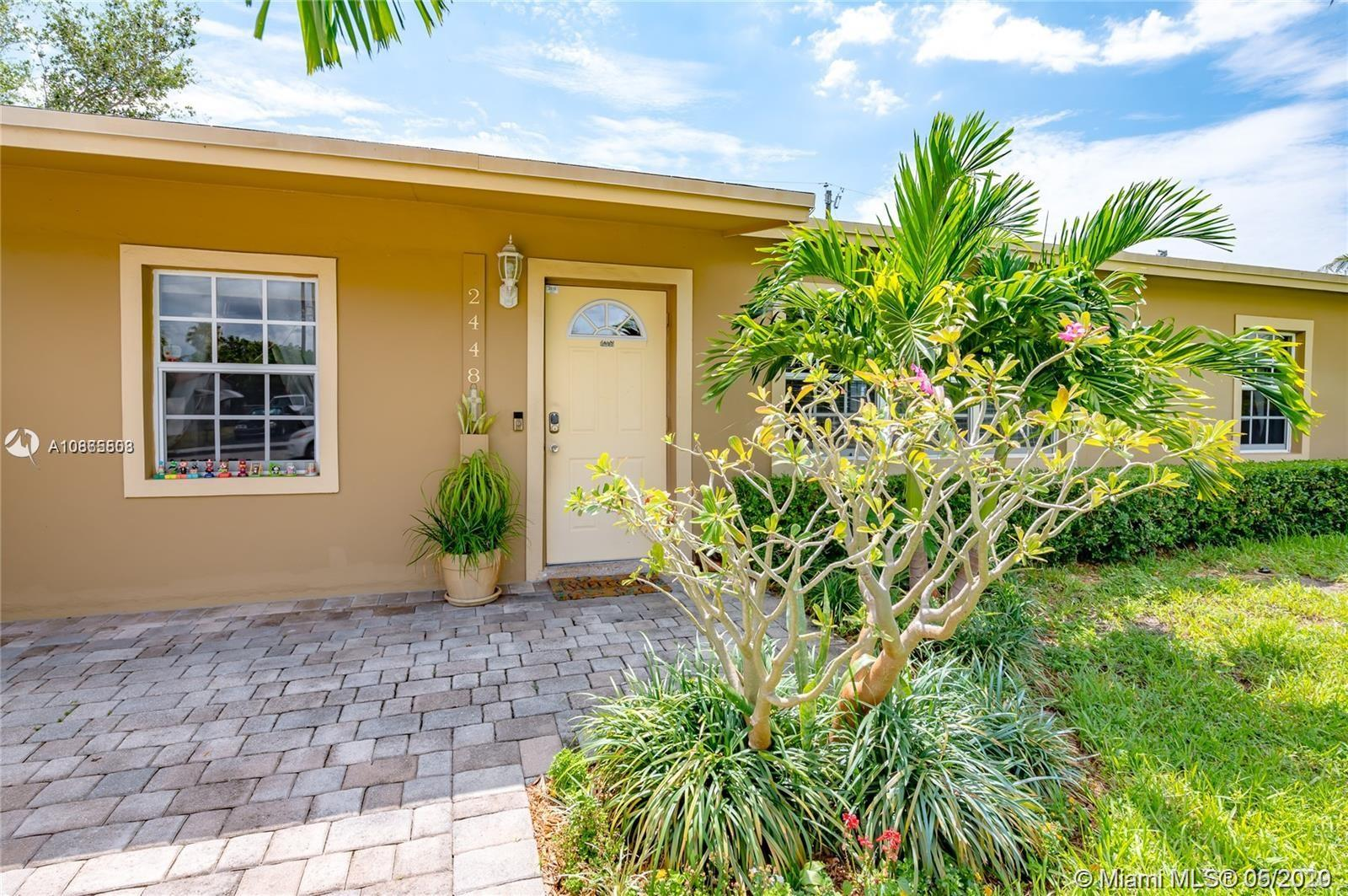 Discover this beautiful and family-oriented community of Collier Manor. This great neighborhood is only 10 minutes from the amazing Pompano beach. This adorable and exclusive home has many upgrades, such as solar panels, a new water heater, and more. This home has everything that you are looking for: a brand new kitchen with granite backsplash and new countertops, new appliances, and brand new impact doors and windows, new flooring. There is a paved patio area with an above ground swimming pool, fully fenced in with a brand new sprinkler system. This home is conveniently located at walking distance to Pompano Beach Centre, Premium Pompano Golf course, restaurants, movies, & shopping. Make your appointment today before this beauty sells. ATTENTION INVESTORS*CITY ZONING APPROVED FOR AIRBNB*