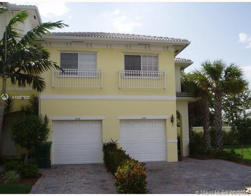 Beautiful Townhouse stainless steel appliances, wood cabinets, porcelain Tiles downstairs and wood upstairs, NEW impact windows and sliding doors, Garage and extra-long driveway for additional parking, Community pool, security patrol and kids' playground. Excellent location close to Sawgrass Mill, Plantation and Fort Lauderdale International Airport.Easy to rent, great for investment.Easy to show, see Broker's remarks.
