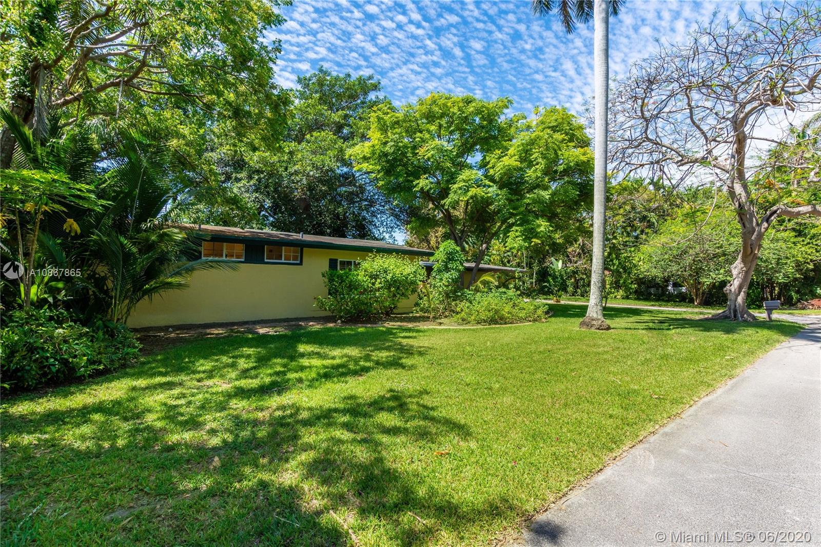 Just Reduced!! This Charming Single Family Home is located in the Heart of South Miami! This home features an Extended lot of over 20,000 Square Feet! One of the biggest lot sizes in the area! End Users: Add your touches and bring your Family to this large lot with plenty of greenery and space! This home has 3 Bedrooms and 2 full bath along with a fully covered terrace area. Investors or Developers:This is a Rare Chance for you to subdivide the land and build two investment homes in South Miami! This Opportunity will not last!!