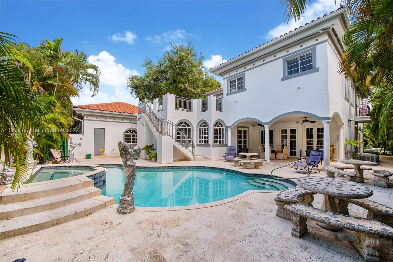 LEASED TILL 9-30-21 -ELEGANT EXECUTIVE HOME - OVER 5600 SQ FT UNDER AIR- CLOSE TO SCHOOLS AND SHOPPING-MARBLE - MARBLE - MARBLE- FLOORS- SPIRAL STAIRS- KITCHEN-LIVING ROOM-FAMILY ROOM -FLORIDA ROOM-ALL MARBLE- 5 BEDROOM-4 1/2 BATH-PLUS SEPARATE LIVE-IN -1/1 OR CABANA - HAS COVERED REAR ENTERTAINING PATIO-FAMILY ROOM WITH FULL WET BAR-POSS-EXERCISE ROOM-GYM UNDER AIR-FREE FORM HEATED POOL WITH SPA - MASTER SUITE WITH TWO BUILT OUT- WALK INS- 14 FOOT CEILINGS- WHOLE HOUSE 30 DAY DIESEL GENERATOR - WORKING FIREPLACE-OWNER WILLING TO HOLD MORTGAGE WITH 1/3 DOWN.  CLOSE TO UM AND THE BILTMORE HOTEL AND GOLF RESORT AND THE TENNIS CENTER- SALVATORE PARK - 5% RETURN -GROSS- AS INVESTMENT   SHOWINGS TUESDAY AND WEDNESDAYS-BY APPOINTMENT ONLY---ALARM SYSTEM ON