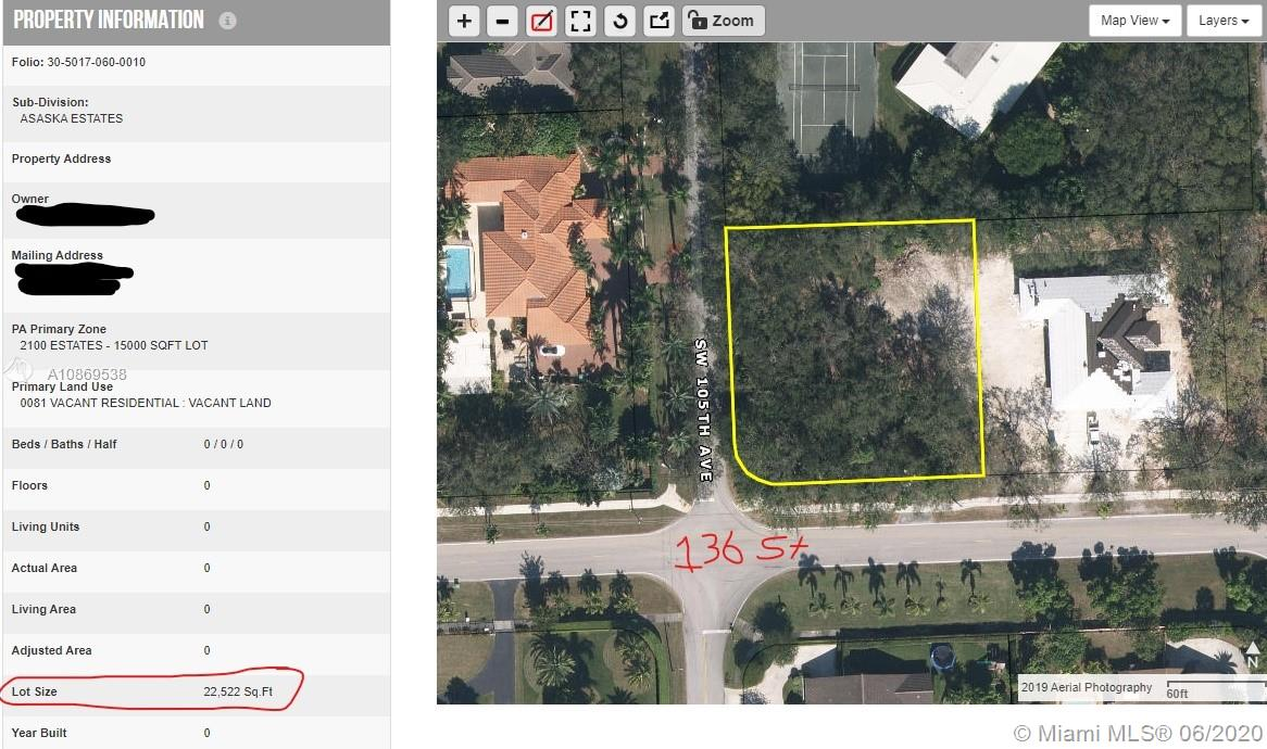 13555 SW 105th ave  For Sale A10869538, FL