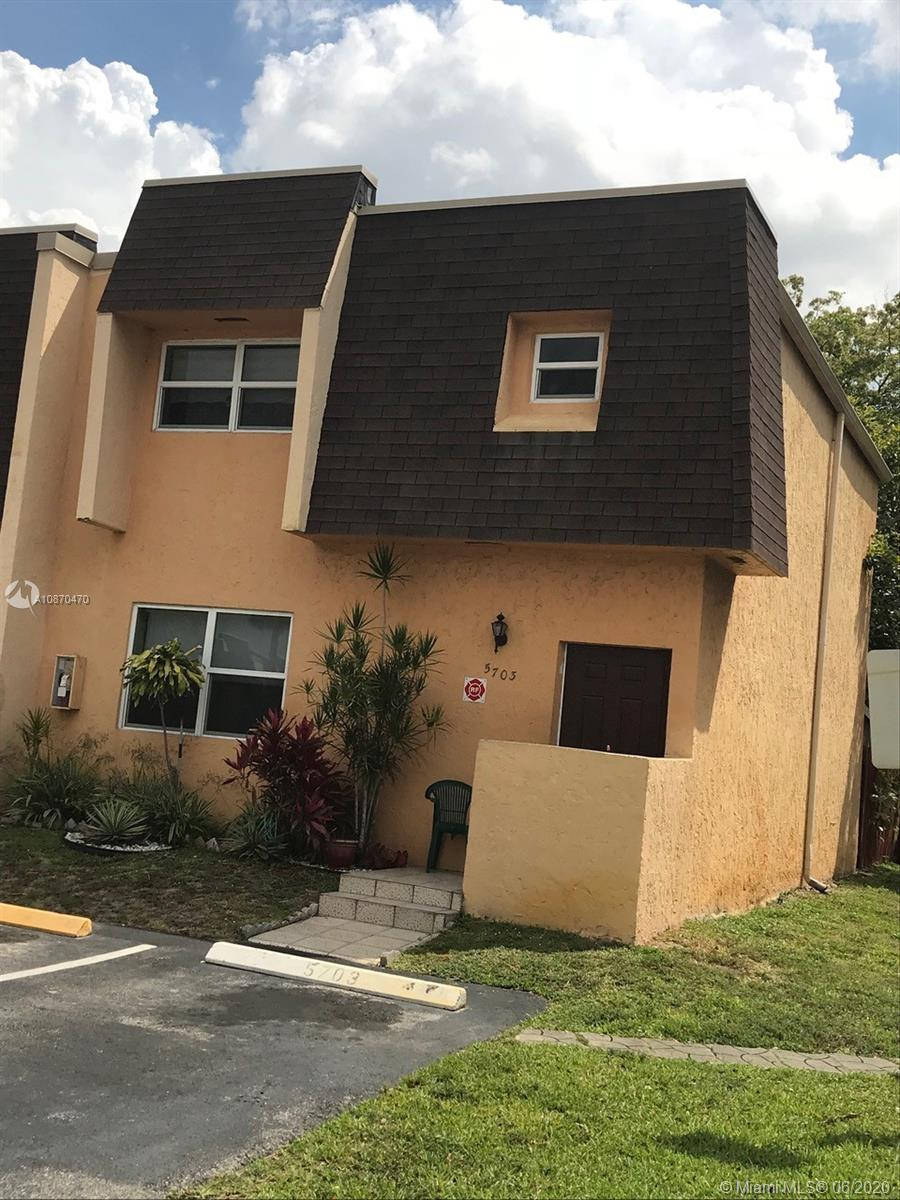 ALL NEW FLOORS KITCHEN AND APPLIANCES. OPEN & SPACIOUS TOWNHOME LOCATED IN A GREAT FAMILY COMMUNITY *** CONVENIENTLY LOCATED NEAR TURNPIKE AND STATE ROAD 7 *** CERAMIC TILE FLOORING DOWNSTAIRS & CARPET UPSTAIRS *** REAR OPEN PATIO WITH AN ATTACHED STORAGE ROOM ***WASHER/DRYER INCLUDED *** GREAT OPPORTUNITY FOR INVESTOR - RENTED FOR $1,500