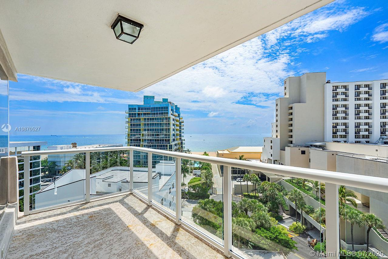 Live the beach lifestyle in this 1 bedroom and 1.5 bath residence in the mid-century fabulous Maya Marca! Residence boasts almost 1300 sq ft of bright and modern living space, open kitchen with granite countertops and solid wood cabinetry, foyer opens to expansive living and dining space with impact windows throughout. Large en-suite bedroom has spectacular views of Lake Mayan, luxurious bath. Step on to your balcony with sweeping ocean views all the way up Fort Lauderdale beach! Amenities include waterfront pool, BBQ area, boat dock, sauna and gym. Pet friendly building allows up to 2 pets with a total of 40lbs! Just steps to the Atlantic beach sand!