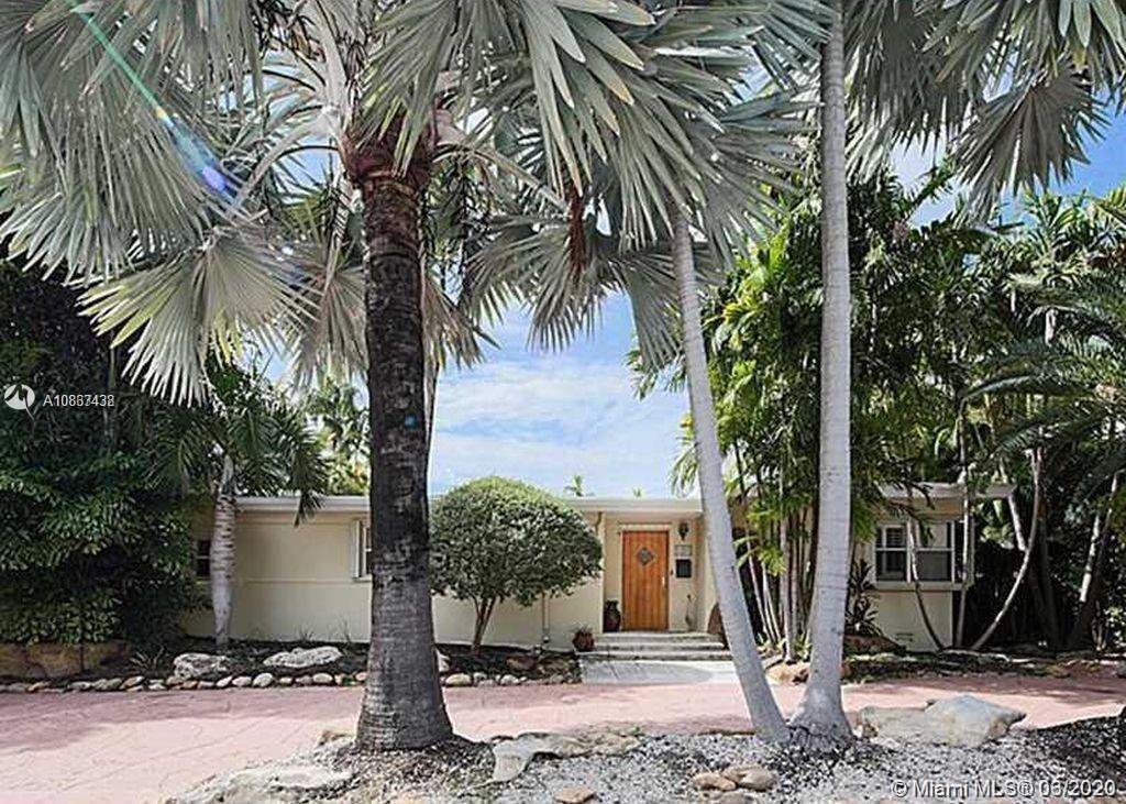 Tear me down of fix me up. Either way, it's a slam dunk - just see the comparable properties. Located in exclusive Bay Harbor Islands, safety, A+ schools, shopping, dining, and beaches.  Existing house has a great floor plan, high ceilings, natural light and endless possibilities.  Pool is in a great spot to allow for additional outside entertainment or play area. Developer or end user.  Come and get it.