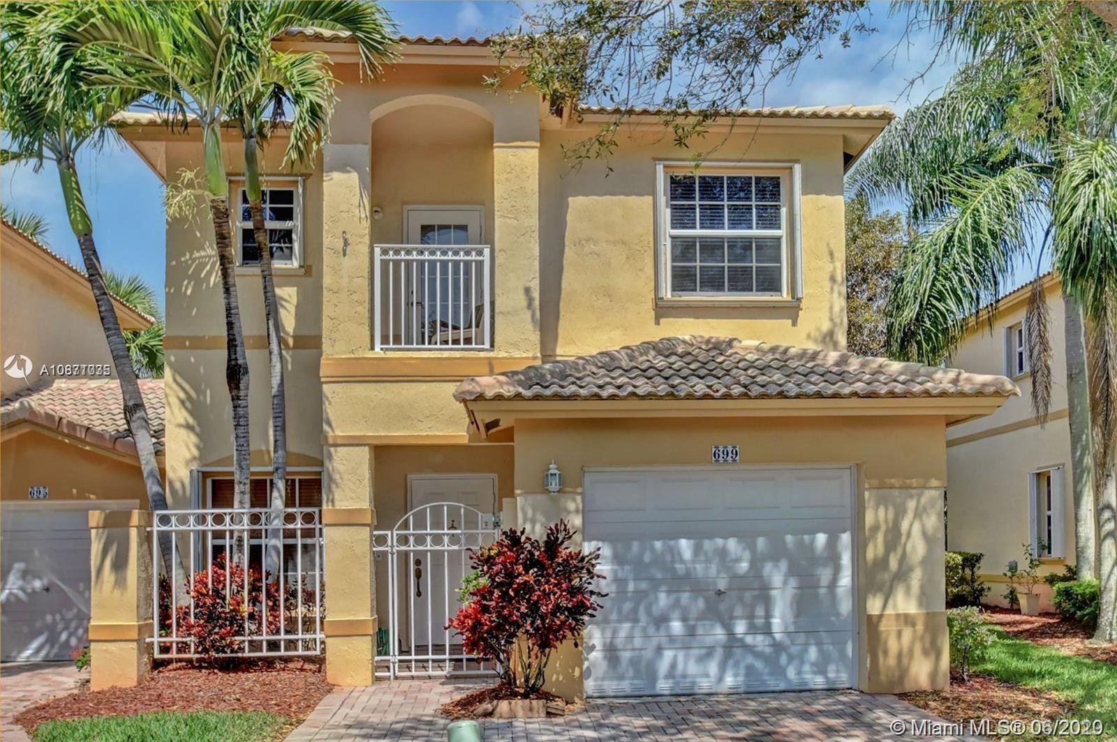 TURN  Key! 3 Bed, 3 Full Bath plus a Loft, Alexander Palm Model the largest model in the community! 1440 square feet! Town Home with a One Car Garage end unit  located in Luxurious Pembroke Isles. Unit Features an Open Kitchen w/SS Appliance. Spacious 2nd Floor Master Bedroom w/Private Balcony! BONUS PLUS A LOFT! First Floor Guest Bedroom w/Bath. . Open Patio w/Tropical Garden Views. 24 Hr. Guard Gated Community w/Country Club Amenities: Three Pools, Tennis, Basketball, Gym, Handball, Soccer, Tot Lots Bike/Jog path, Boat Dock, Bbq/Picnic Area, Clubhouse-Clubroom, Community Room, Exercise Room, Fishing Pier. HOA INCLUDES ALARM, CABLE, INTERNET, LAWNCARE, SPRINKLERS, SECURITY CONTROL! AIR CONDITIONER 2016. FHA APPROVED!!!