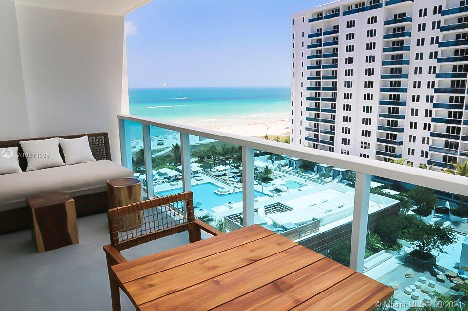This upscale beachfront hotel is a minute's walk from Collins Avenue bus stop, a mile from the bustling Lincoln Road and 1.4 miles from Miami Beach Architectural District. The property has a high-end restaurant and a rooftop bar, as well as 4 outdoor pools, a fitness center and direct beach access with umbrellas. The sophisticated airy rooms have reclaimed driftwood lining the walls and feature ocean views, plus free WiFi, 55-inch flat-screen TVs and Nespresso machines. Upgraded rooms and full kitchens.