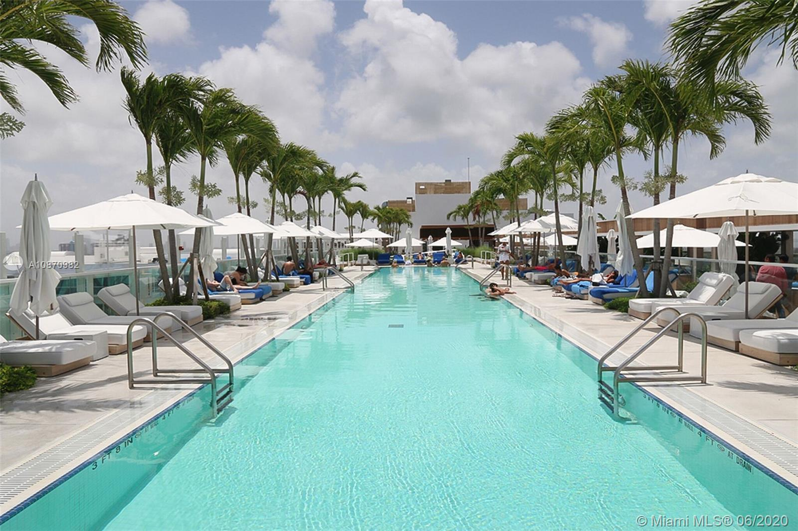 This upscale beachfront hotel is a minute from Collins Avenue bus stop, a mile from the bustling Lincoln Road and 1.4 miles from Miami Beach Architectural District. The property has a high-end restaurant and a rooftop bar, as well as 4 outdoor pools, a fitness center and direct beach access with umbrellas. The sophisticated airy rooms have reclaimed driftwood lining the walls and feature ocean views, plus free WiFi, 55-inch flat-screen TVs and Nespresso machines. Upgraded rooms and full kitchens.