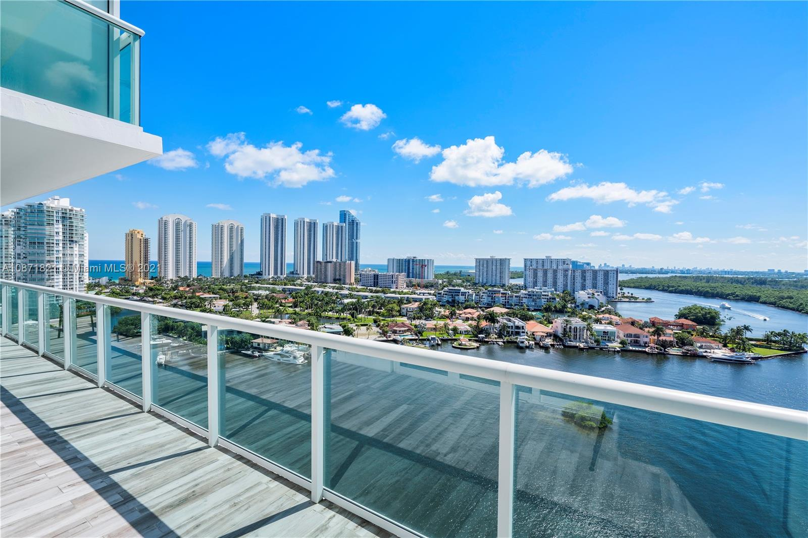 AMAZING NEW OPPORTUNITY AT 400 SUNNY ISLES! Very saw after split floor plan, with large balcony exposing stunning panoramic Intracoastal views with Sunny Isles Skyscrapers bordering the sky on the left and Oleta National Park on the right, gorgeous to relax and enjoy. This luxury 3 Bedrooms/3 Baths condo unit, fully furnished by Crate & Barrel, features a Master suite with a very large walk-in closet. Living room features lots of natural light. Full Service building, 24hrs front desk, gym, Tennis court, Pool, Marina, Valet. Walking distance to Sunny Isles Beach, near Aventura Mall, Bal Harbour Mall, schools, and world class restaurants. Featuring resort style pool deck with full service private Marina and boat with wet and dry slips, to all residents. Seller motivated. Vacant easy to show!