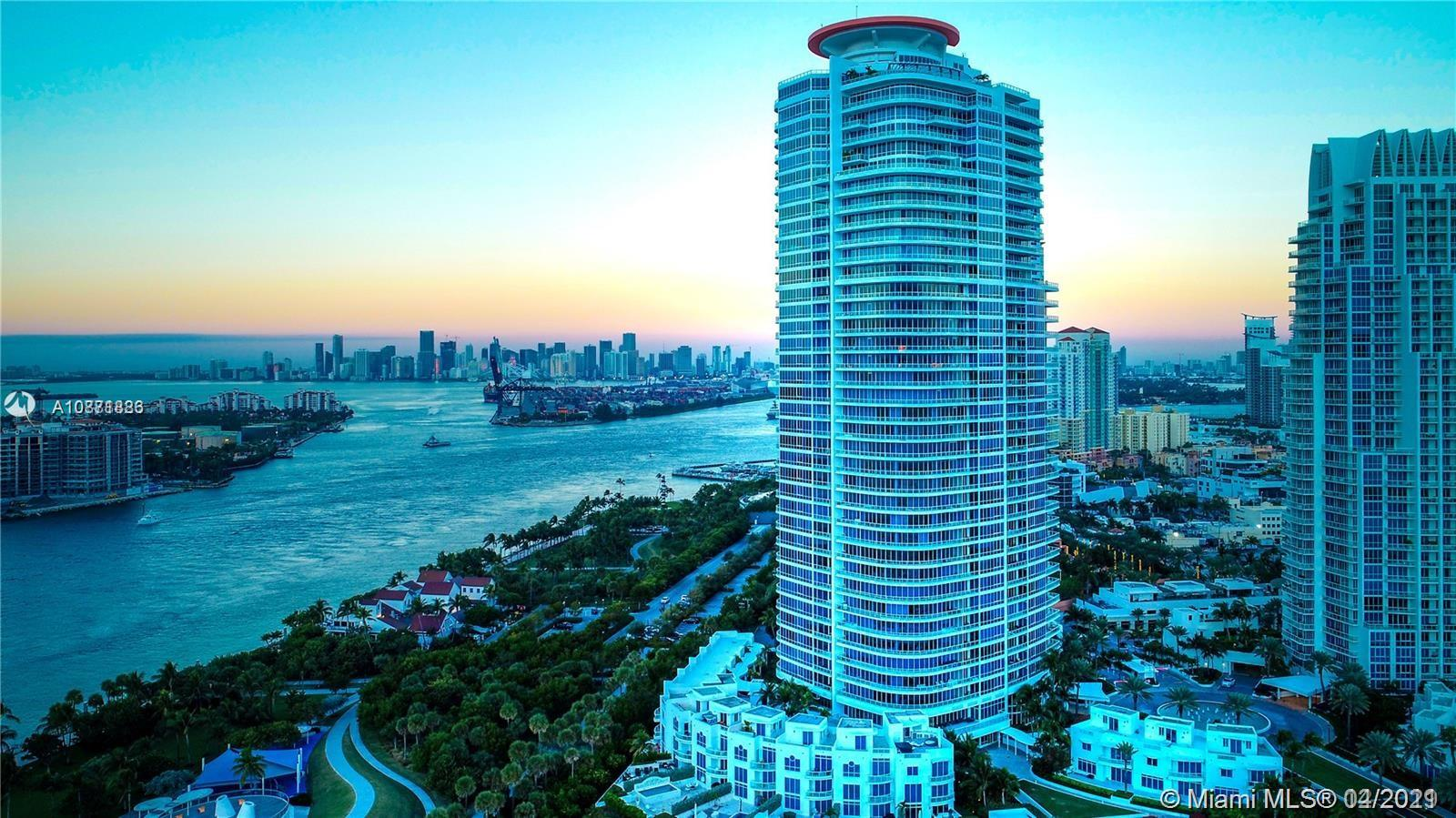 Amazing direct bay, Fisher Island, Inlet and downtown views from this large 1 bedroom apartment (1200 sqft - 1.5 baths) at The Continuum south tower. All the amenities you can dream of nestled in a private enclave of 12 acres; private gardens, Tennis, Gym, spa with pools and fountains at the southernmost tip of Miami Beach where the Atlantic Ocean meets Biscayne Bay harbor. Within the perimeter, the feeling is that of a resort on a remote Island, yet you are literally footsteps from the restaurants and nightlife of Miami Beach. Dedicated beach area on the tranquil tip of South Beach.