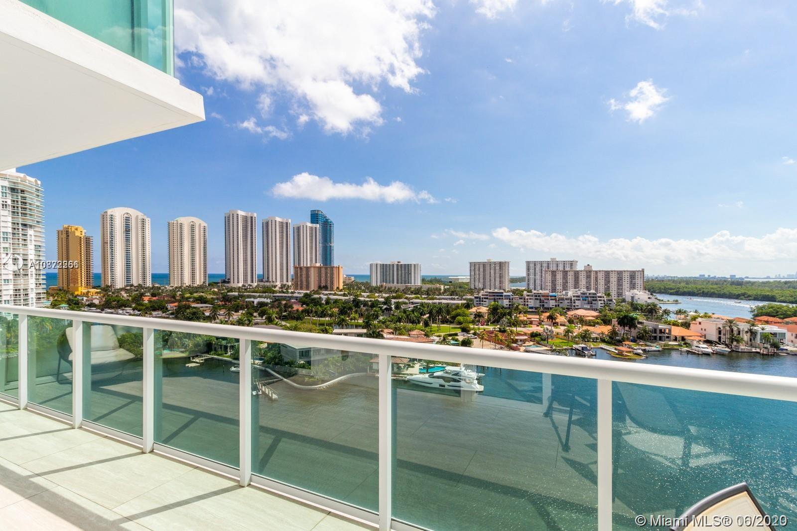 AMAZING NEW OPPORTUNITY AT 400 SUNNY ISLES! Very saw after split floor plan,  with large balcony exposing stunning panoramic Intracoastal views with Sunny Isles Skyscrapers bordering the sky on the left and Oleta National Park on the right, gorgeous to relax and enjoy.This luxury condo 3 Bedrooms/3 Baths, fully furnished by Crate & Barrel, features a Master suite with a very large walk-in closet. Living room features lots of natural light. Full Service building, 24hrs front desk, gym, Tennis court, Pool, Marina, Valet. Walking distance to Sunny Isles Beach, near Aventura Mall, Bal Harbour Mall, Great schools, and world-class restaurants. Featuring resort style pool deck with full service private Marina and boat with wet and dry slips, to all residents. Vacant, easy to show!