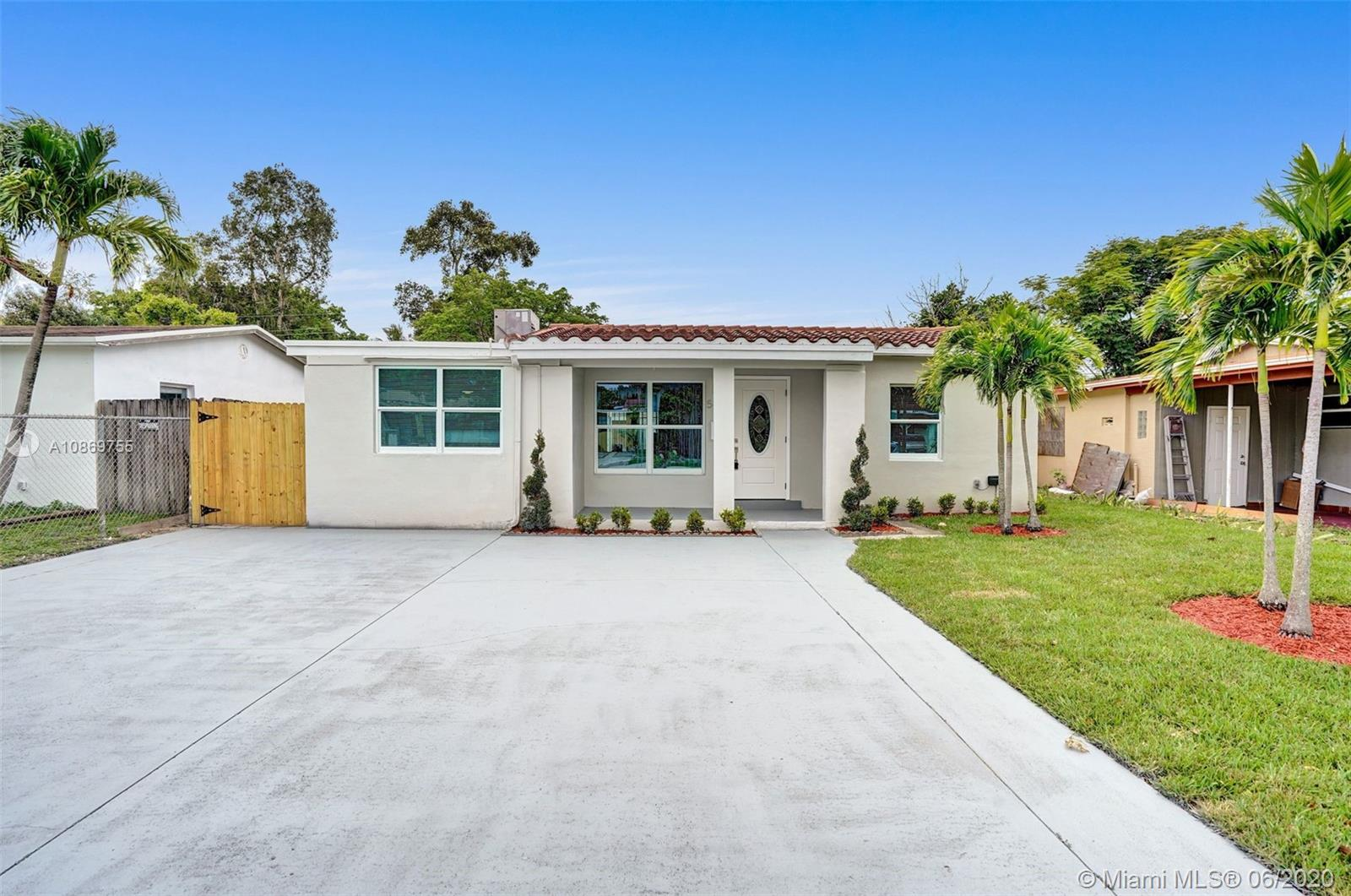 BEAUTIFULLY FULLY REMODELED 4/2 HOME WITH LARGE POOL IN THE HEART OF OAKLAND PARK! PERFECT TURN-KEY STARTER HOME OR VACATION RENTAL OPPORTUNITY! HOME FEATURES ALL HURRICANE IMPACT WINDOWS AND DOORS, 2012 SHINGLE ROOF, 2007 A/C UNIT, BRAND NEW TANKLESS WATER HEATER, NEW BATHROOMS, BRAND NEW WHIRLPOOL WASHER AND DRYER, NEW SPRINKLERS SYSTEM WITH NEW GRASS. NEW CUSTOM KITCHEN WITH HIGH-END EUROPEAN CABINETS, QUARTZ COUNTERTOP AND BRAND NEW STAINLESS STEEL APPLIANCES, RECESSED LIGHTING THROUGHOUT, BACKYARD WITH LARGE POOL NICE FOR ENTERTAINMENT, SPACIOUS DRIVEWAY, FRESHLY PAINTED INSIDE/OUT... MINUTES FROM SCHOOLS, BEACH, SHOPPING PLAZAS ETC... HURRY THIS WONT LAST LONG!!