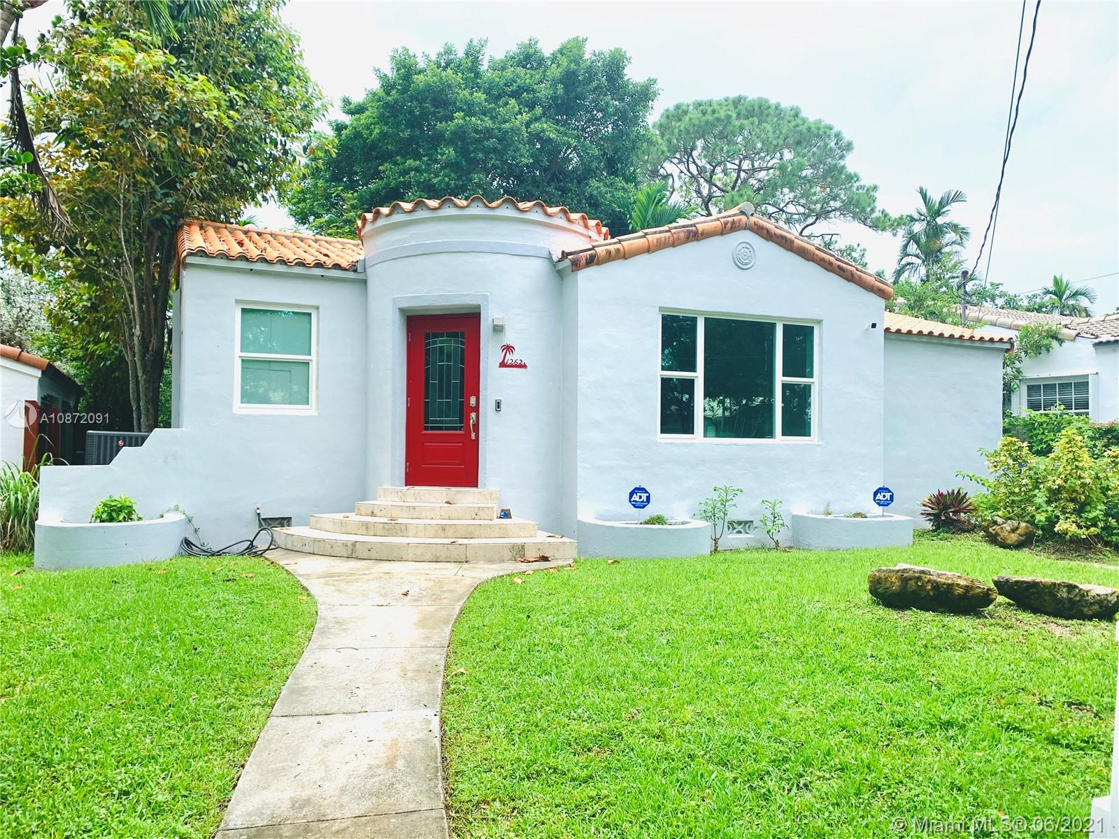 Recently renovated home one block west from The Roads and five minutes from Brickell Avenue.  This charming house is perfect for a growing family; enjoy afternoon walks on the beautiful Boulevard on 13th Avenue.  Location, location, location, close to restaurants, schools, shopping centers while nestled in a quiet street.  Home has a new AC unit, impact windows and door, freshly painted, Ring video doorbell, ADT security system, and much more, with room for a pool.  PLEASE SEE BROKER REMARKS.