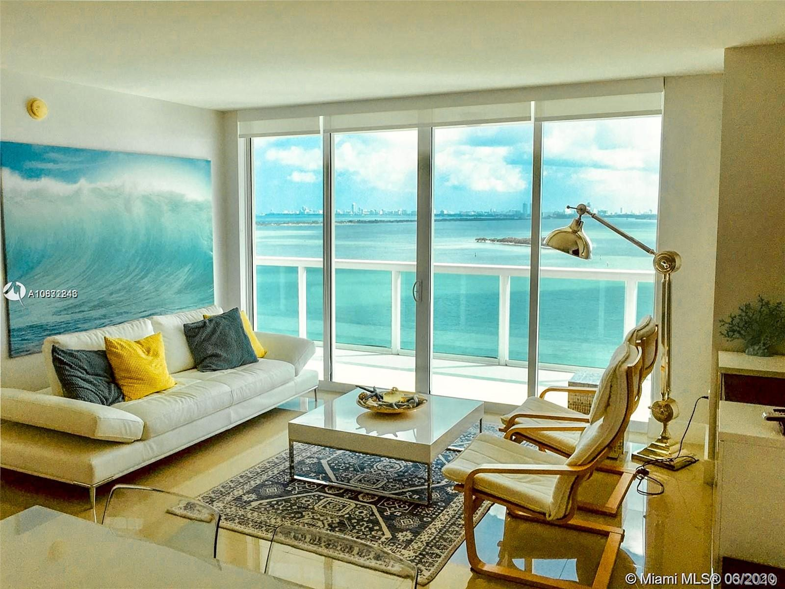 This is a wonderful upgraded 2/2 Condo at 1800 Club near Downtown Miami. Upgraded bathrooms, kitchen and closets. New window treatment and over $40K in upgrades recently invested in the apartment.Wide direct East Ocean/Bay views from living room, dining room and bedrooms. Split bedrooms with 1222Ft2 of AC space plus 252 Ft2 of terrace. Tile floors. This is a full service building includes concierge, valet service, on site management, pool, gym, spa, steam room, sauna, play room and more. HOA includes cable and internet. Walk to park, cafes, night life, supermarkets, banks and more. Five minutes to South Beach, Downtown Miami, Brickell, American Airlines Arena, Performing Arts Center, Port of Miami, Health District and Easy access to all major highways.