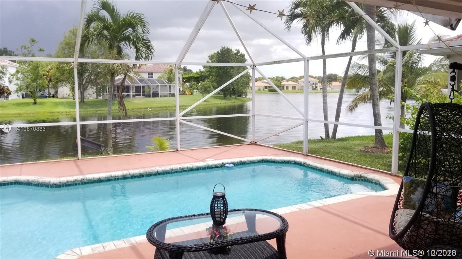 Perfect Location- very close to Sawgrass mall, shopping, dinning, major expressways and much more. Beautiful home to make your own with 3bd, 2 ½ baths.  Master bedroom downstairs, loft and 2 more bedrooms upstairs. Great ample spaces, living room, dining room, family room and even quaint breakfast area with serene lake views. Wood and tile floors thru out the house.  Fantastic pool & spa in screened patio, perfect for entertaining.   All Stainless steel kitchen appliances, washer and dryer were replaced in 2019 and New high efficiency air conditioning.  Accordion hurricane shutters.