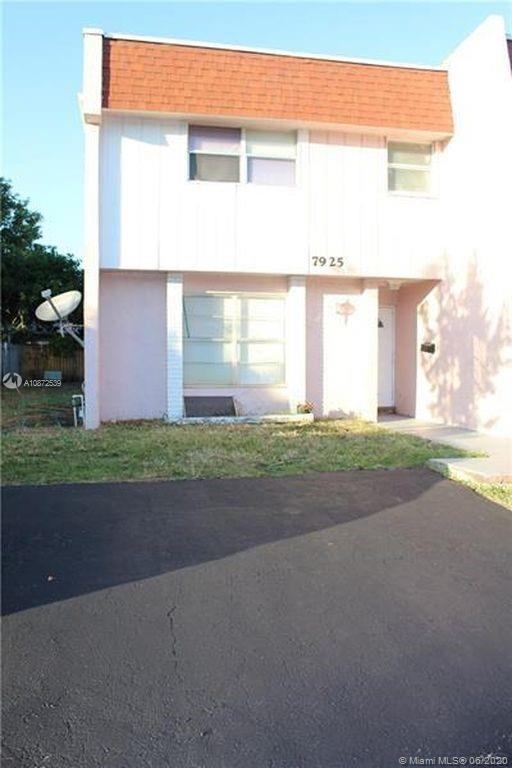 Great Opportunity! Spacious 4 Bedroom/2.5 Bathroom Townhouse in North Lauderdale. One Bedroom located on the 1st floor and Master and second and third Bedrooms located on 2nd Floor.  Master Bedroom is Spacious with Walk-in Closet. Master Bathroom with Stand-up Shower. Washer and dryer inside. Half Bathroom downstairs for Guest. Parking right in front of the house. This house has a lot of potential. No HOA, All Ages, Can be Rented Right Away.