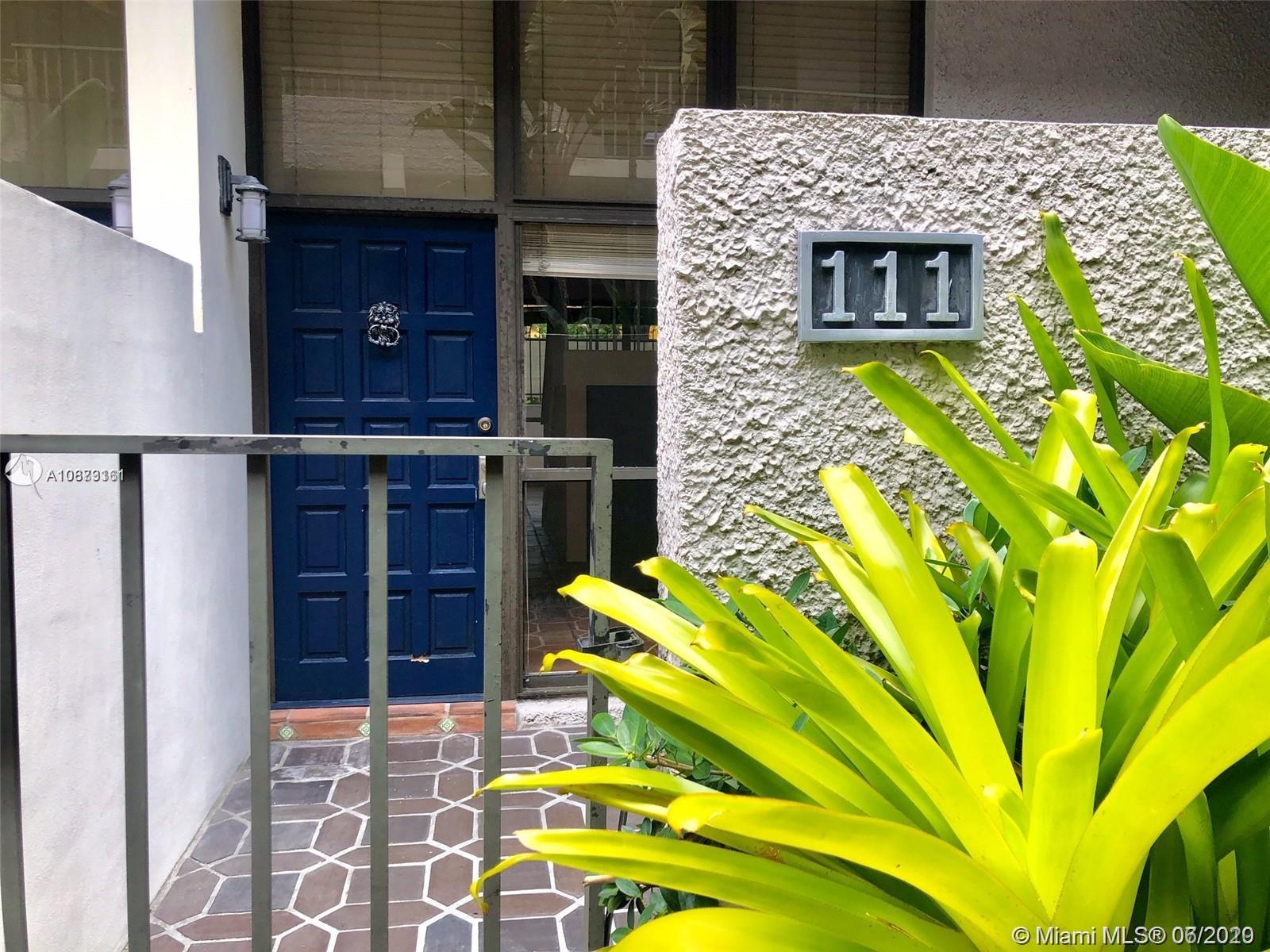 Rarely available! This BIG 1 bed 1.5 bathroom townhouse can be used as a commercial or residential use. Nest door to the highly awaited MR. C's condo currently being built and walking distance to all the grove has to offer.  Very centrally located with two secured parking spots and lots of natural light. This unit has a lot to offer.  Please do not hesitate to call agent with any question or to set up an appointment.