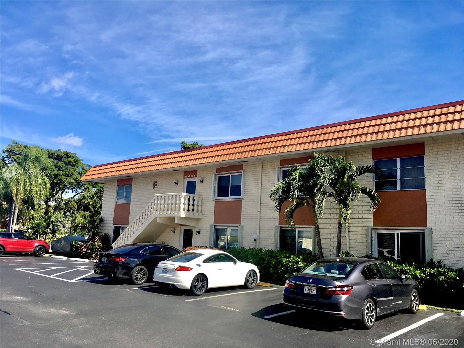 Move-in ready, Spacious 2/2 Corner unit. Located in the heart of Wilton Manors, walking distance to the shops, restaurants & nightlife on Wilton Drive! Short drive to the Beach .Pool and club house located a few steps away.HUGE living Area and MASTER bed room.Updated floors.Partially furnished.NEW AC UNIT and TANKLESS WATER HEATER!!DOGS Allowed.Washer and dryer is allowed to be installed per association.Well maintained property with low maintenance fees and a financially sound HOA.NO LAND LEASE!