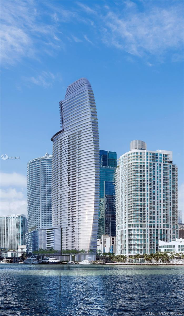 Your home in the sky. Construction is well underway. Aston Martin's first exclusively branded residential high rise with an estimated delivery in 2022. In this first exclusive development partnership with Aston Martin, the interiors are inspired by the brand's 105 year history, DNA and esthetic through subtle details and craftsmanship while taking into consideration Miami's tropical and exciting environment. The residential only tower will be over 800' as the tallest condominium tower south of NYC with 391 units, over 42,000 sq ft of sky amenities and timeless finishes. EXCEPTIONAL OPPORTUNITY...85% SELLER FINANCING AVAILABLE