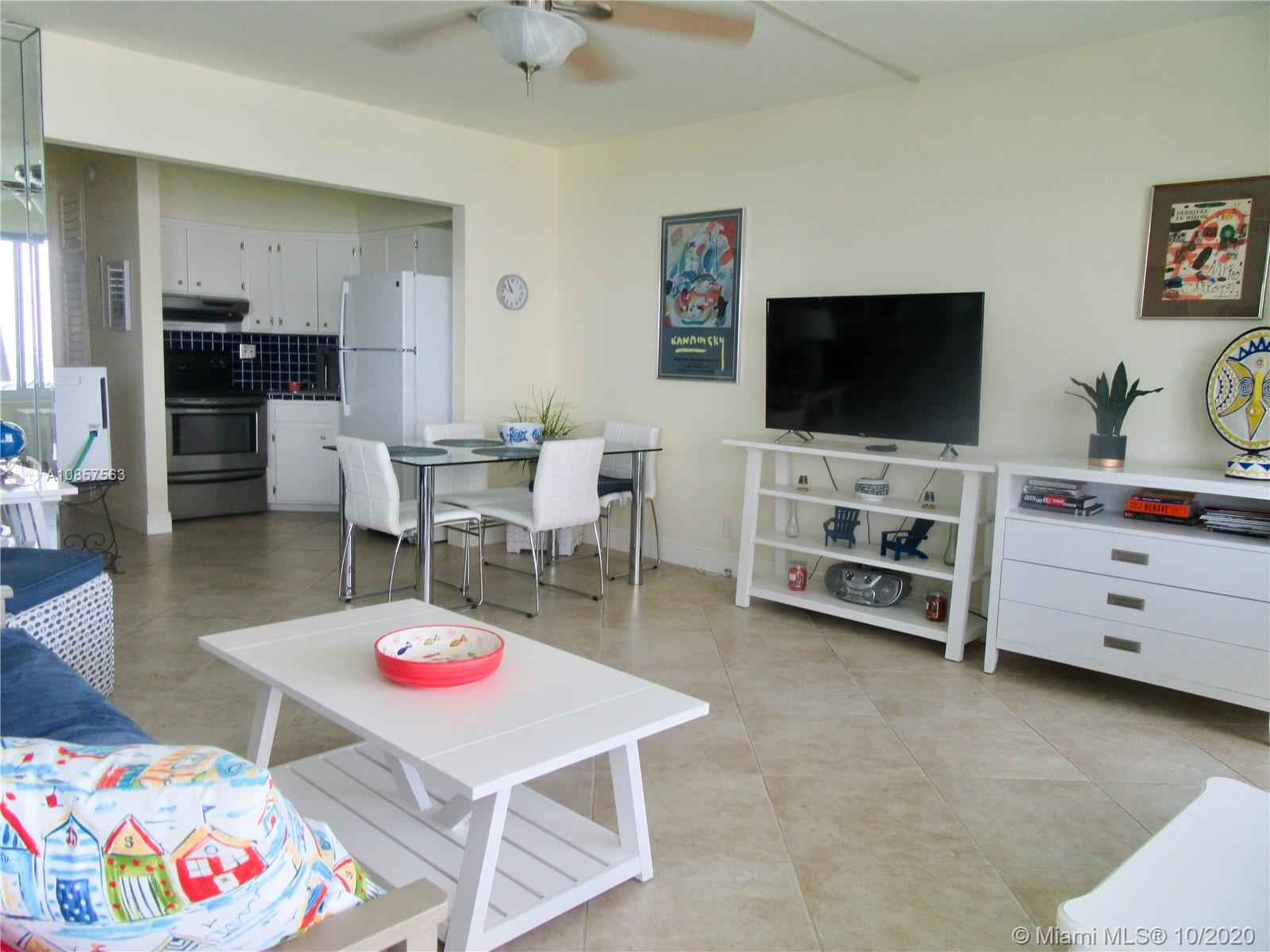 Direct ocean views from your window and balcony, building sits on the sand. High impact glass, new A/C units, new water heater, tile floors, well maintained building. The location doesn't get any better: walk to restaurants, entertainment, shopping, and the pier of the quaint village of Lauderdale By The Sea! Enjoy your morning coffee from the oceanfront balcony and walk down to the oceanfront, heated pool and BBQ. Low maintenance fees.