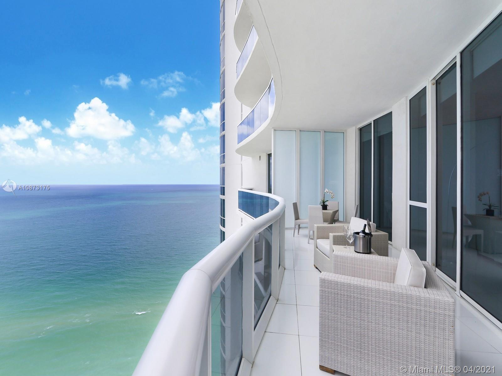 The best location along the beaches at the southernmost point of Sunny Isles Beach. This fantastic turn key residence features three bedrooms, three bathrooms, a powder room, private foyer entrance, top of the line appliances, and oversized balconies with panoramic views of the Atlantic ocean. Residents engage in an amenity-rich lifestyle in the building's fitness center overlooking the beach, SPA, recently remodeled restaurant, heated pool, and beach service. Unit is currently rented until June 2021, ideal for and Investor.