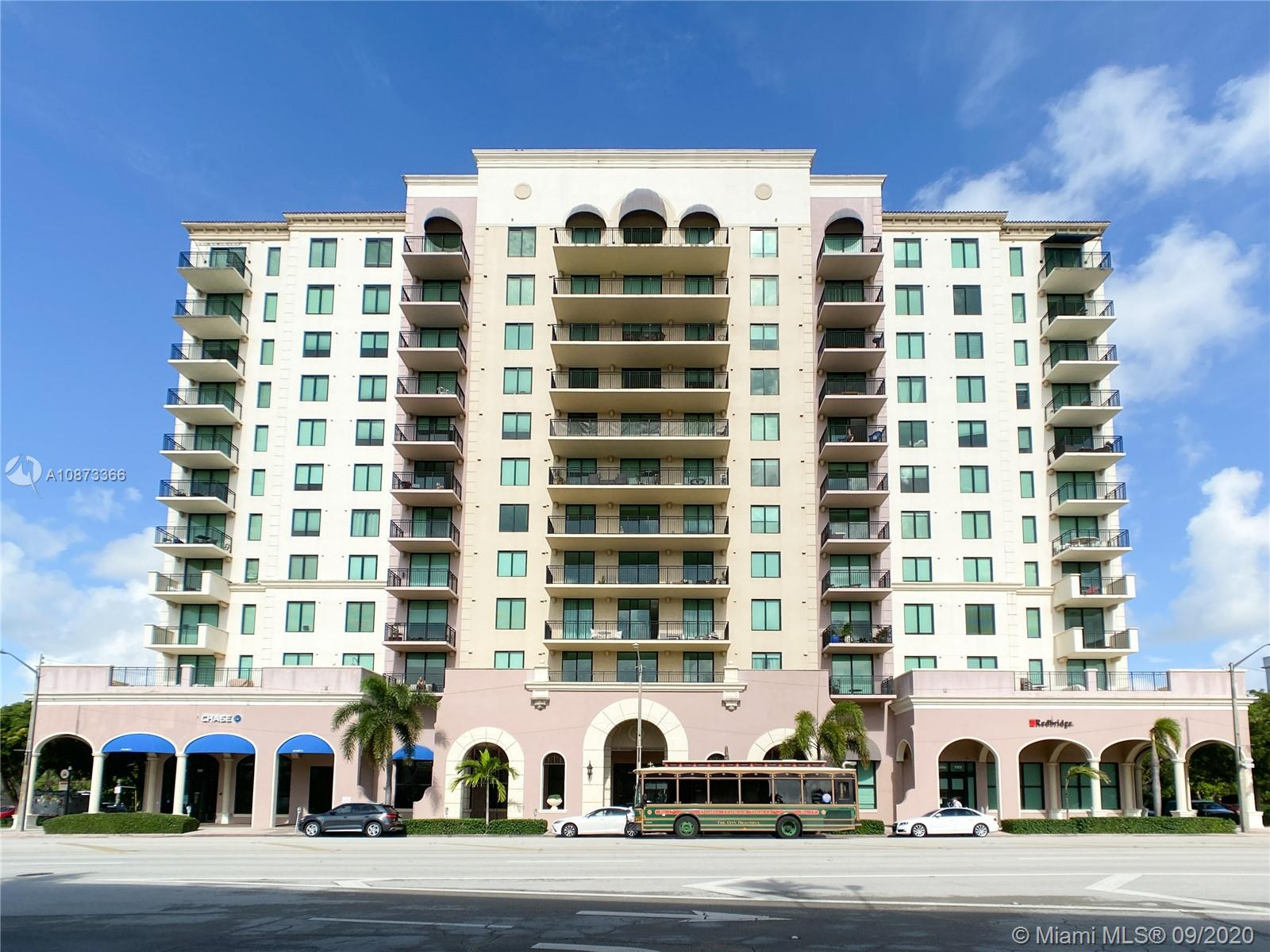 BRIGHT AND SPACIOUS CONDO IN THE HEART OF CORAL GABLES. Unit 809 at 1300 PONCE features an Open balcony with incredible city views. Unit has wood cabinets, stainless stain appliances, impact windows, built in walking closet, etc. Great building amenities include, pool, gym and lounge room. 24 hrs. concierge. Prime location; close to airport and major expressways and walking distance to Miracle Mile, restaurants, shops and much more. A great investment opportunity, must see!