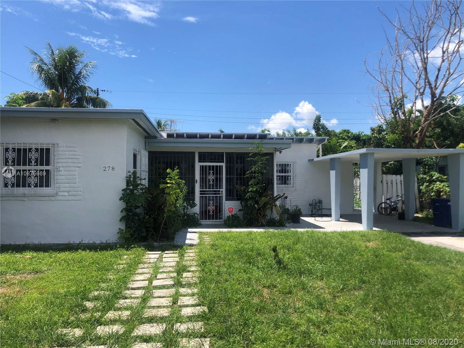 278 NW 110th street  For Sale A10875669, FL