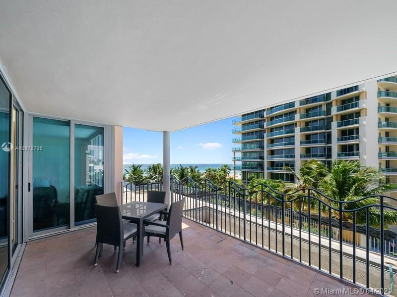 Enjoy beautiful ocean and beach views from this furnished two bedrooms condo in a highly desired location. Just steps to the beach, Lincoln Road and shops. Modern and new decor, hardwood floors, bright and full of light. Full service luxury building, 24 hr security, gym, valet, pool and beach attendants. Easy to show.