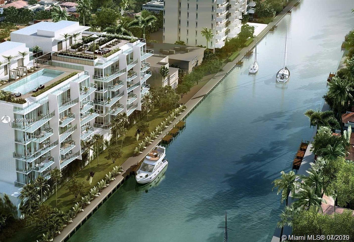 Amazing corner 2beds/2bath unit WITH Beautiful CANAL VIEWS with the Boat slips included in the price.  walking distance from the beach and Bal Harbor Shops. Kai at Bay Harbor is a striking 7-story boutique building designed by Arquitectonica with breathtaking views of Bay Harbor Islands. Kai offers Exquisite picturesque interiors with floor to ceiling glass windows and invigorating enclosed balconies. The infinity roof top pool and sun deck showcases 360 views of Bay Harbor and the bay. Features include 24hrs concierge, marina, fitness center, residents lounge, and roof top summer kitchen area. Units are designed with Mia Cucina cabinetry, quarts countertops, and Bosch appliances.