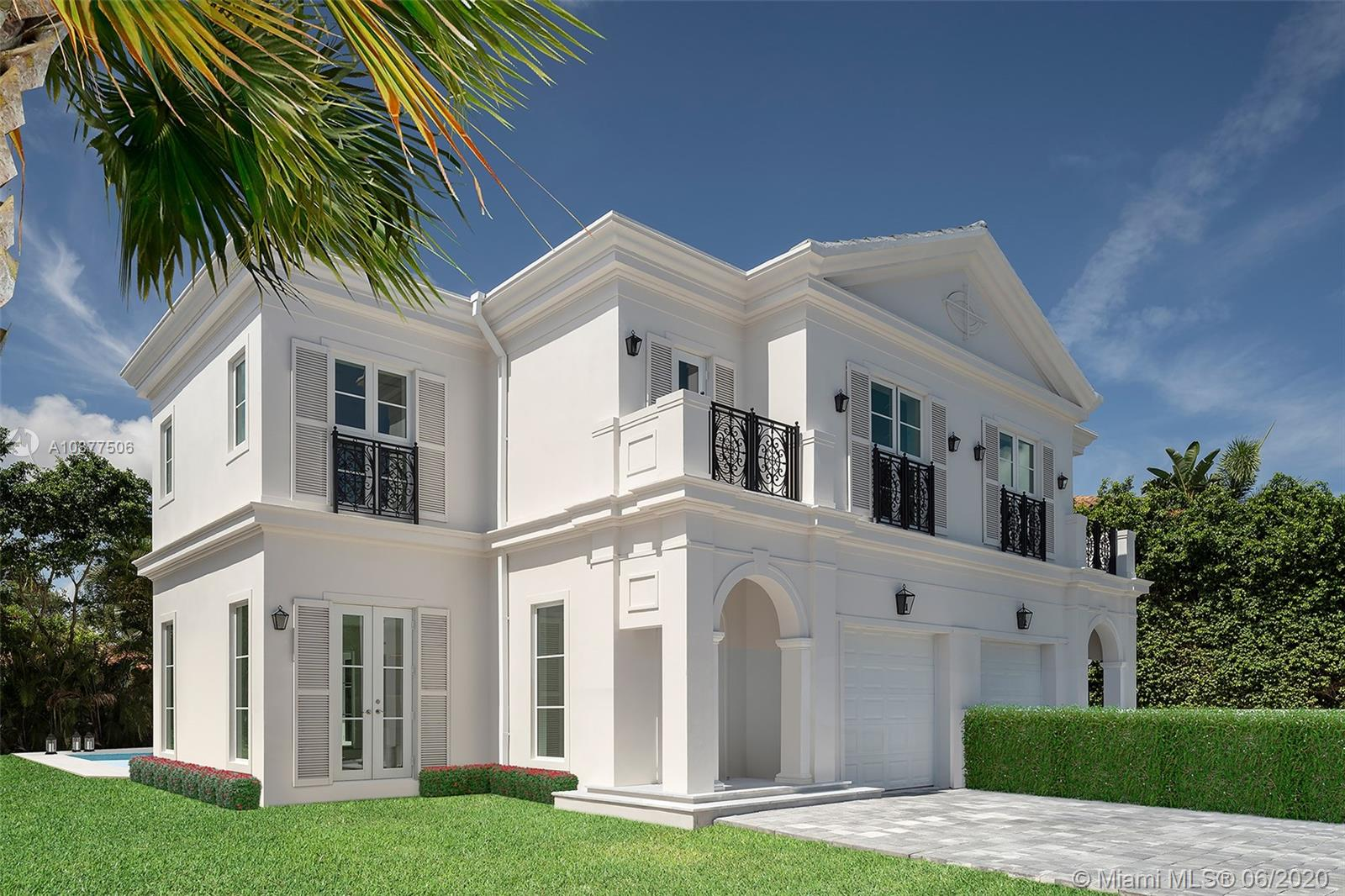 BHHS EWM Realty is proud to present Villa Blanc – a collection of 4 magnificent, newly-constructed townhomes in central Coral Gables.THIS LISTING IS AN EXLUSIVE OPPORTUNITY FOR A BUYER TO PURCHASE ONE UNIT FROM THE 4-UNIT PORTFOLIO. Built in 2019, each of these elegant 2-story townhomes feature spacious living areas, abundant natural light, high-end finishes, private outdoor patio, courtyard & pool. Interiors feature 3BR/3.5BA, gourmet kitchen, high-end appliances, custom white wood cabinets, master bedroom w/ den, master bath w/ separate tub & shower, marble floors & balcony. Laundry room. Villa Blanc's 4 townhome units may be purchased as a portfolio, or in pairs (MLS #A10872863 & MLS #A10872828). Units are leased on short-term basis; please don't disturb Tenants.
